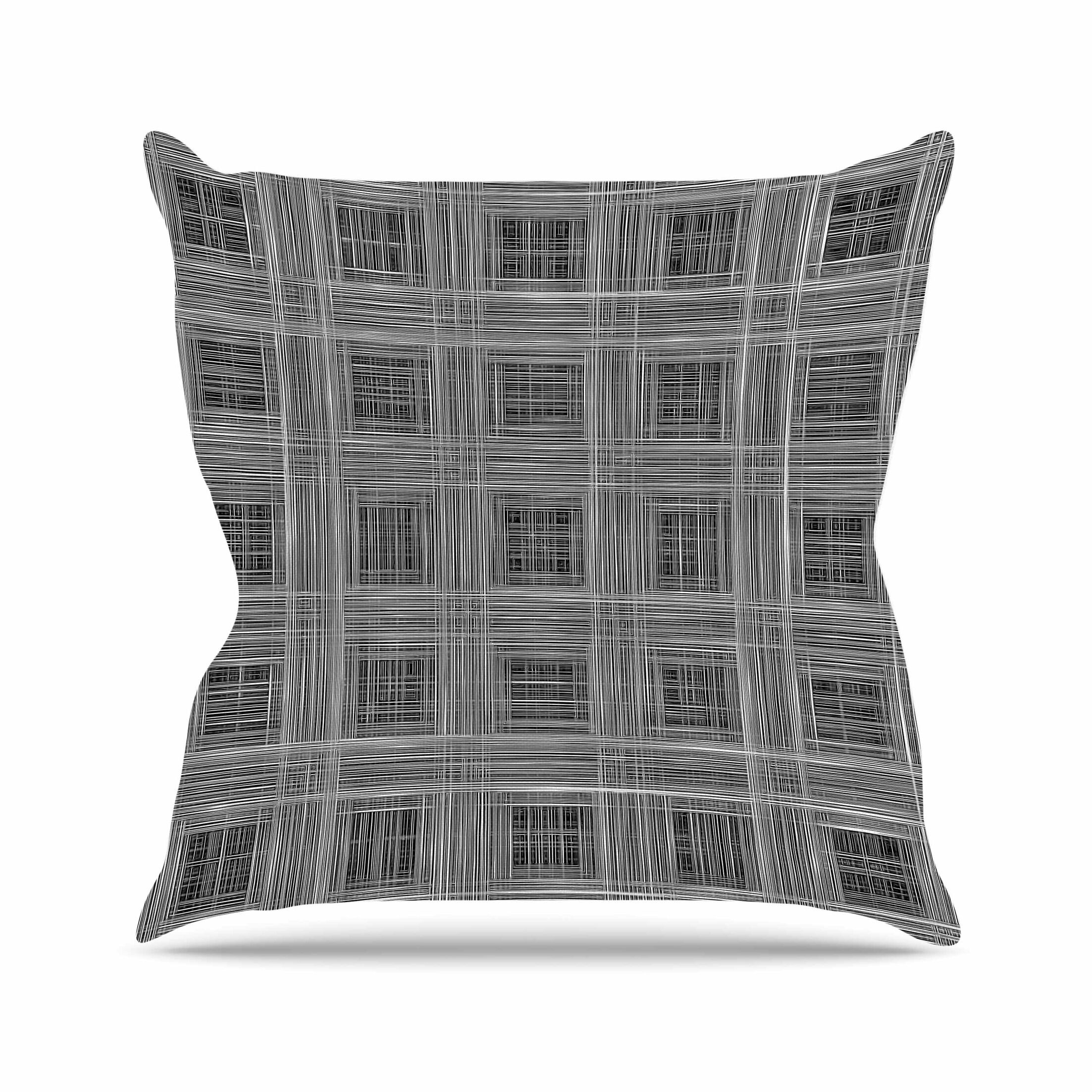 Bruce Stanfield Ambient 10 Pattern Outdoor Throw Pillow Size: 18