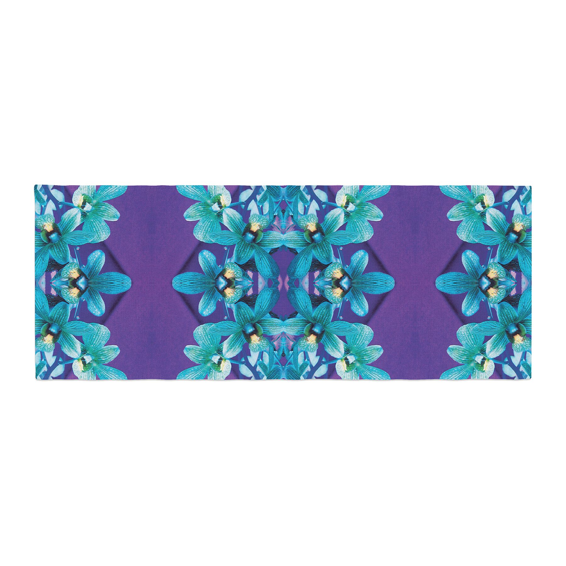 Dawid Roc Orchids Floral Bed Runner