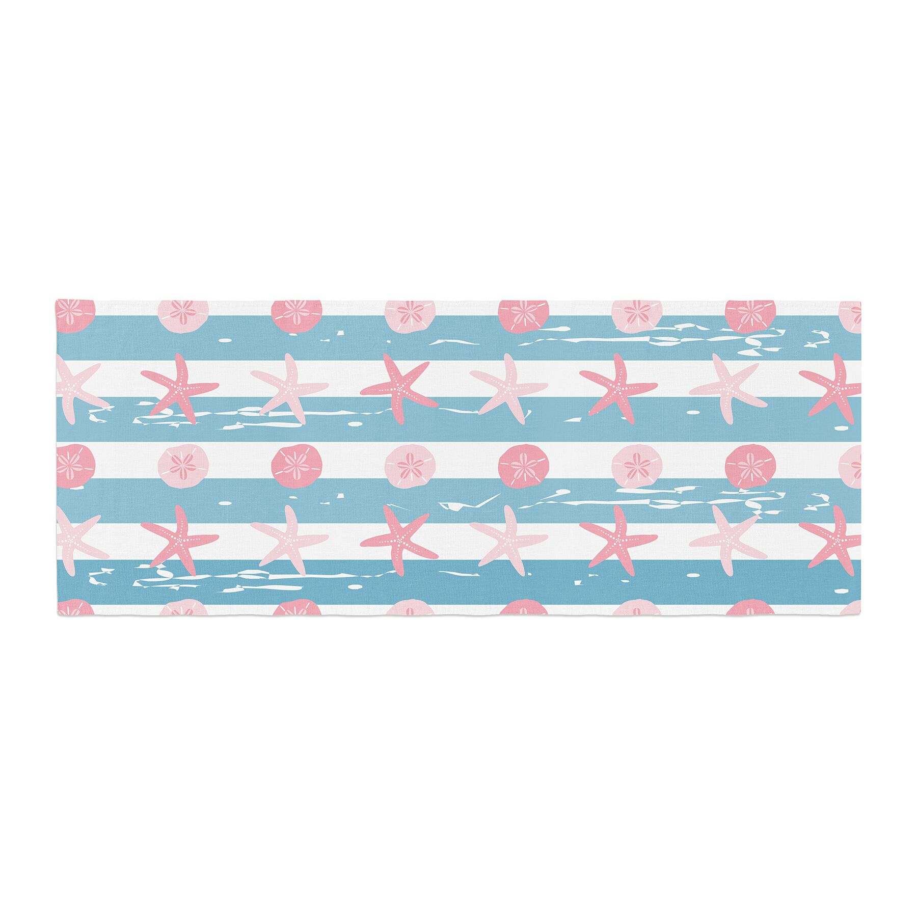 Afe Images Starfish and Sand Dollar Pattern Digital Bed Runner