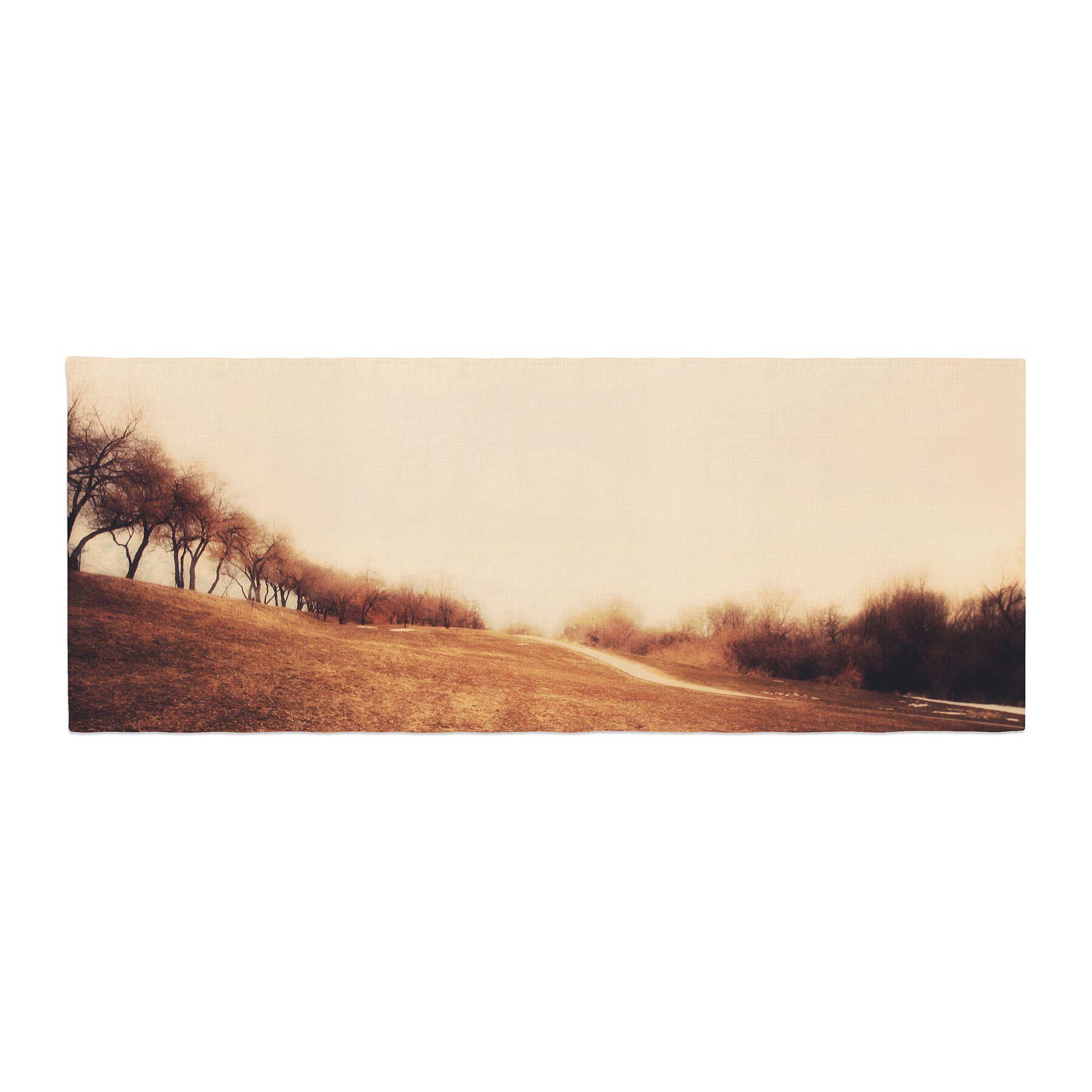 Sylvia Coomes Minimalist Autumn Landscape Bed Runner