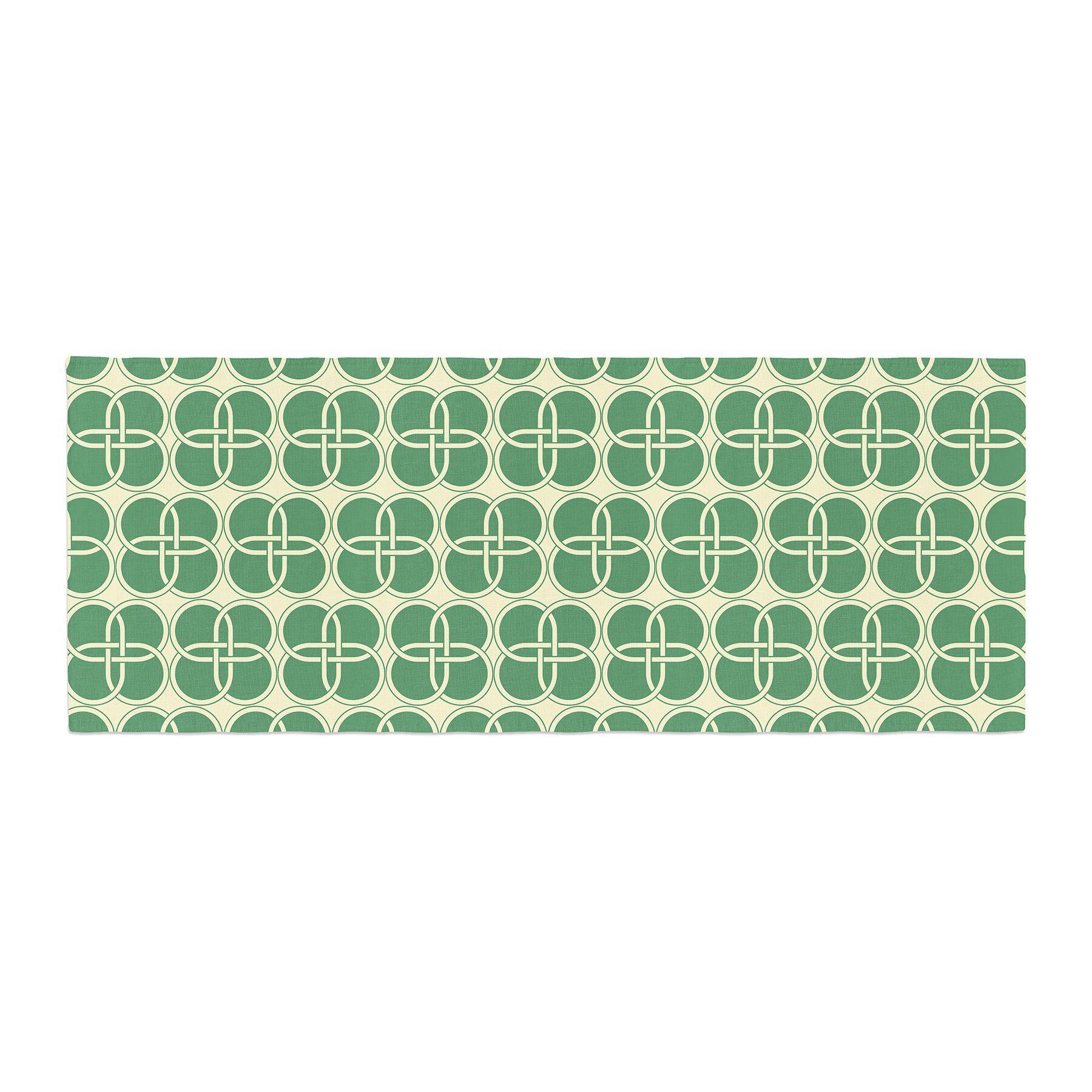 Celtic Crosses Pattern Bed Runner