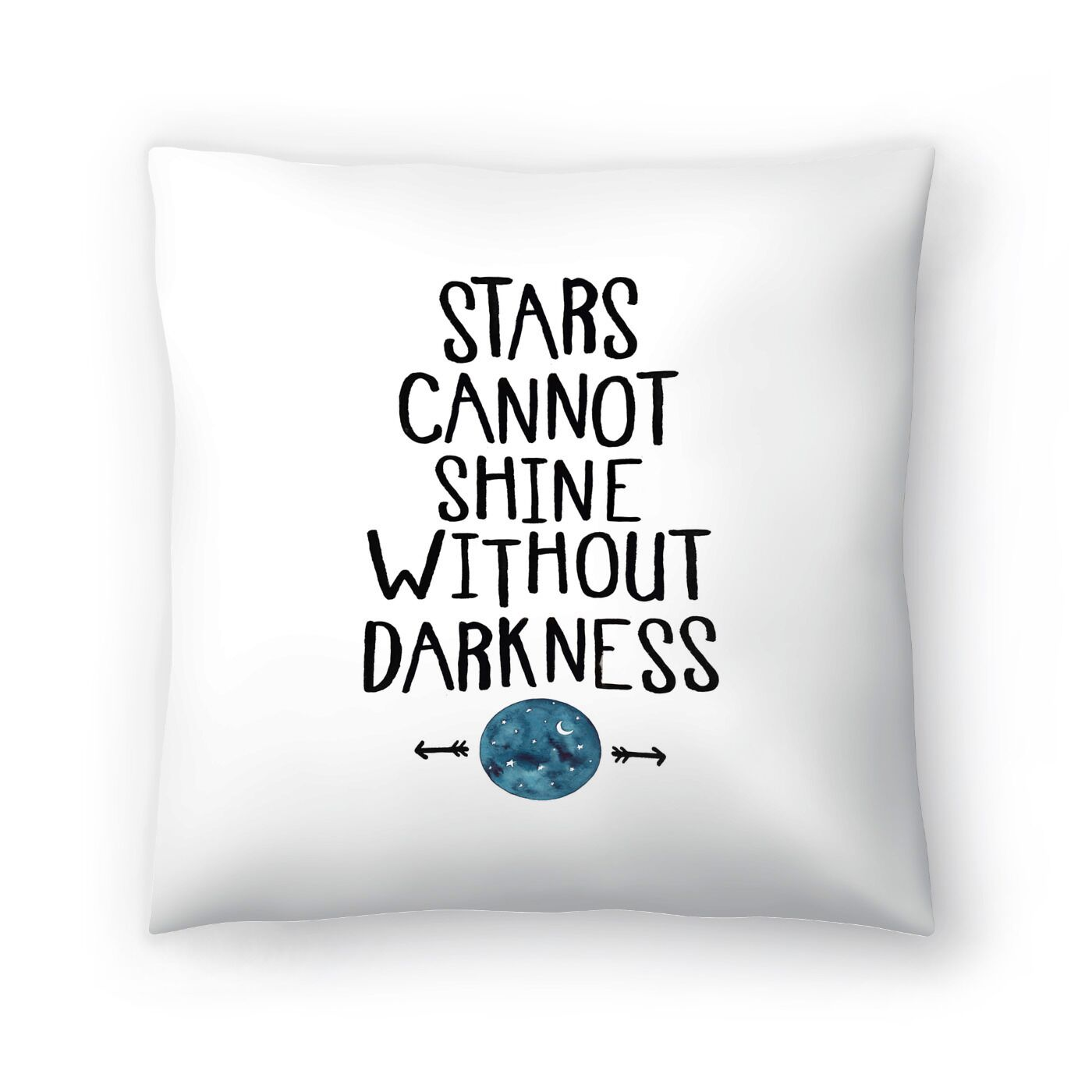 Elena O'Neill Stars Cannot Shine Without Darkness Throw Pillow Size: 16