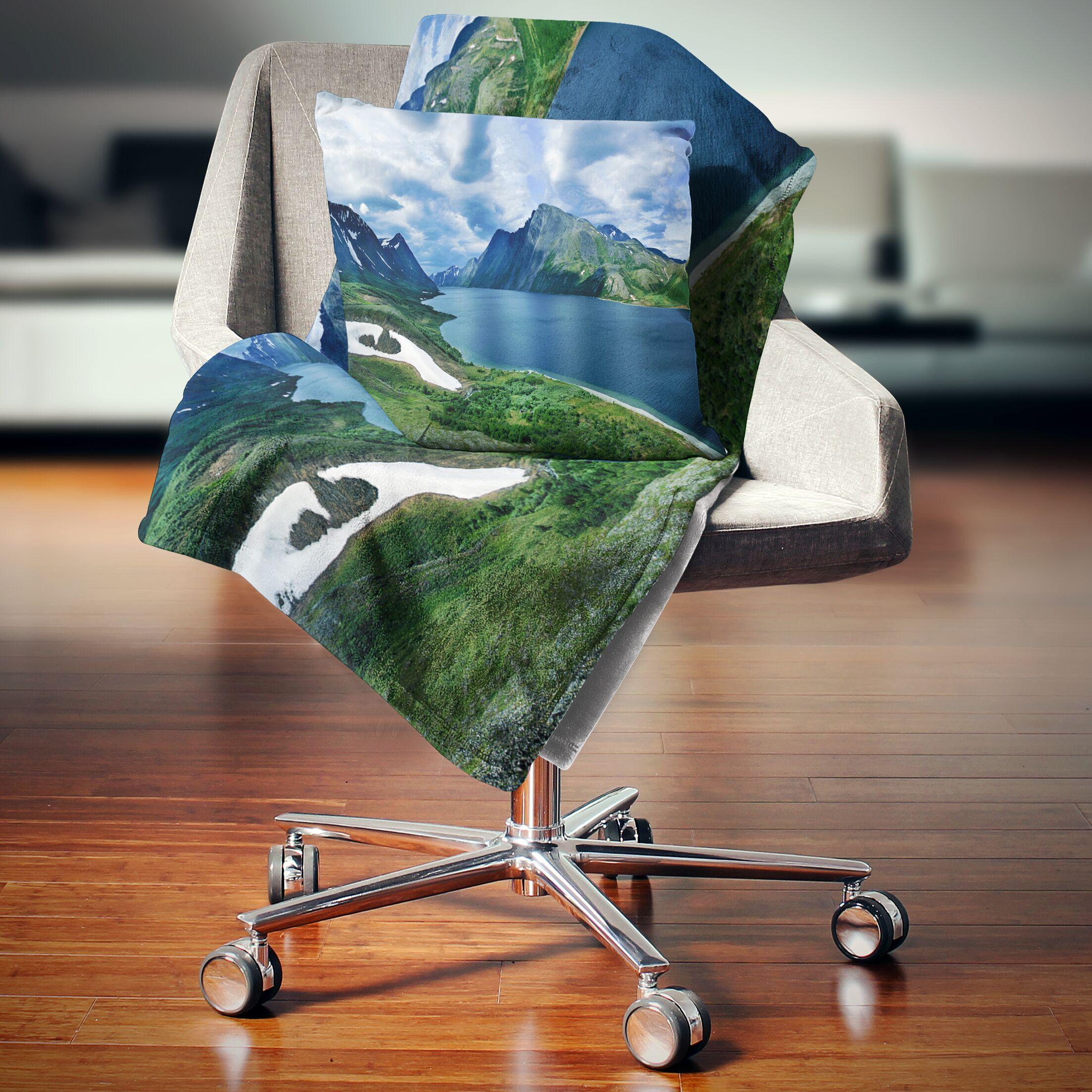 Landscape Printed Polar Ural Mountains Panorama Pillow Size: 18