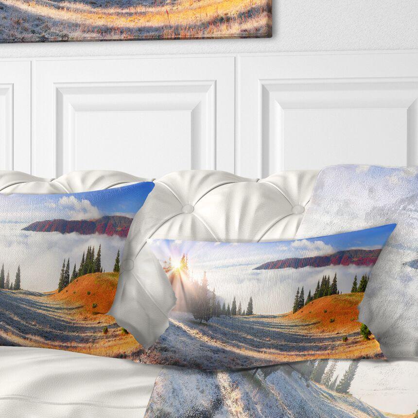 Beach Forest in Carpathians Landscape Photography Pillow Size: 12