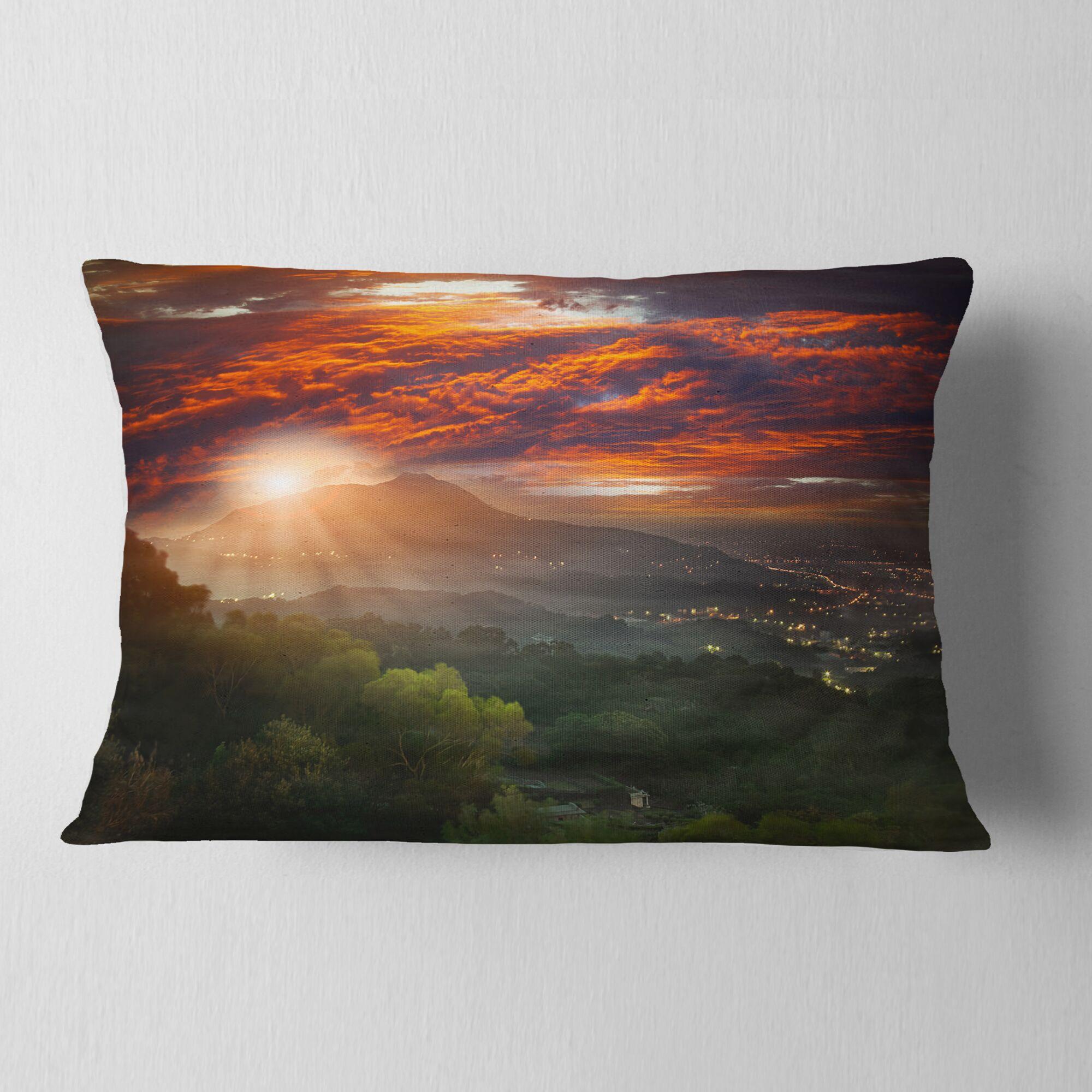 Photography Guanyin Mountain Sunrise Taipei Lumbar Pillow