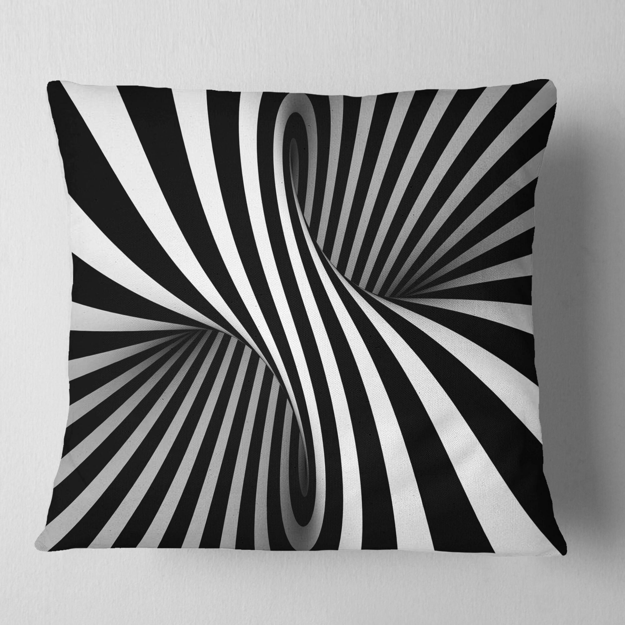 Abstract Spiral Pillow Size: 16