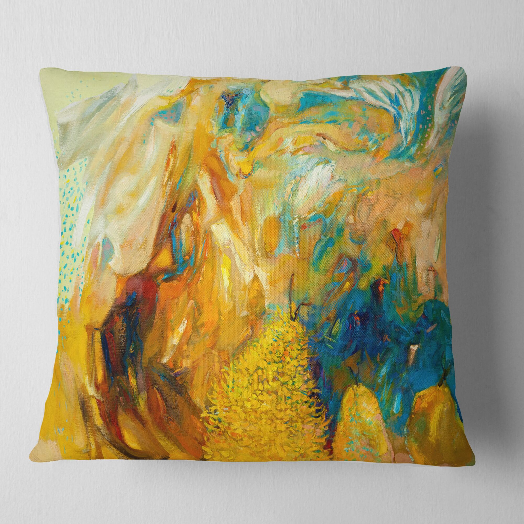 Abstract Collage Pillow Size: 16