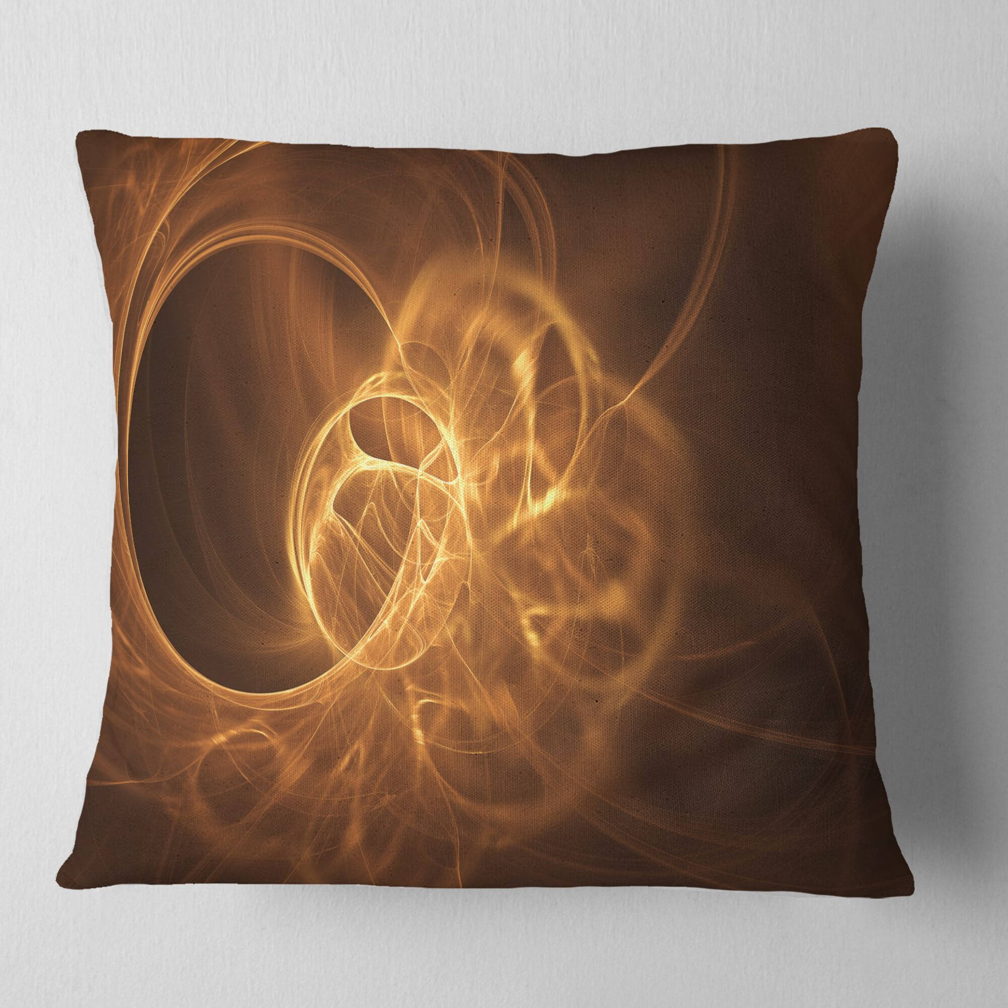 Abstract Softly Glowing Circles Pillow Size: 16