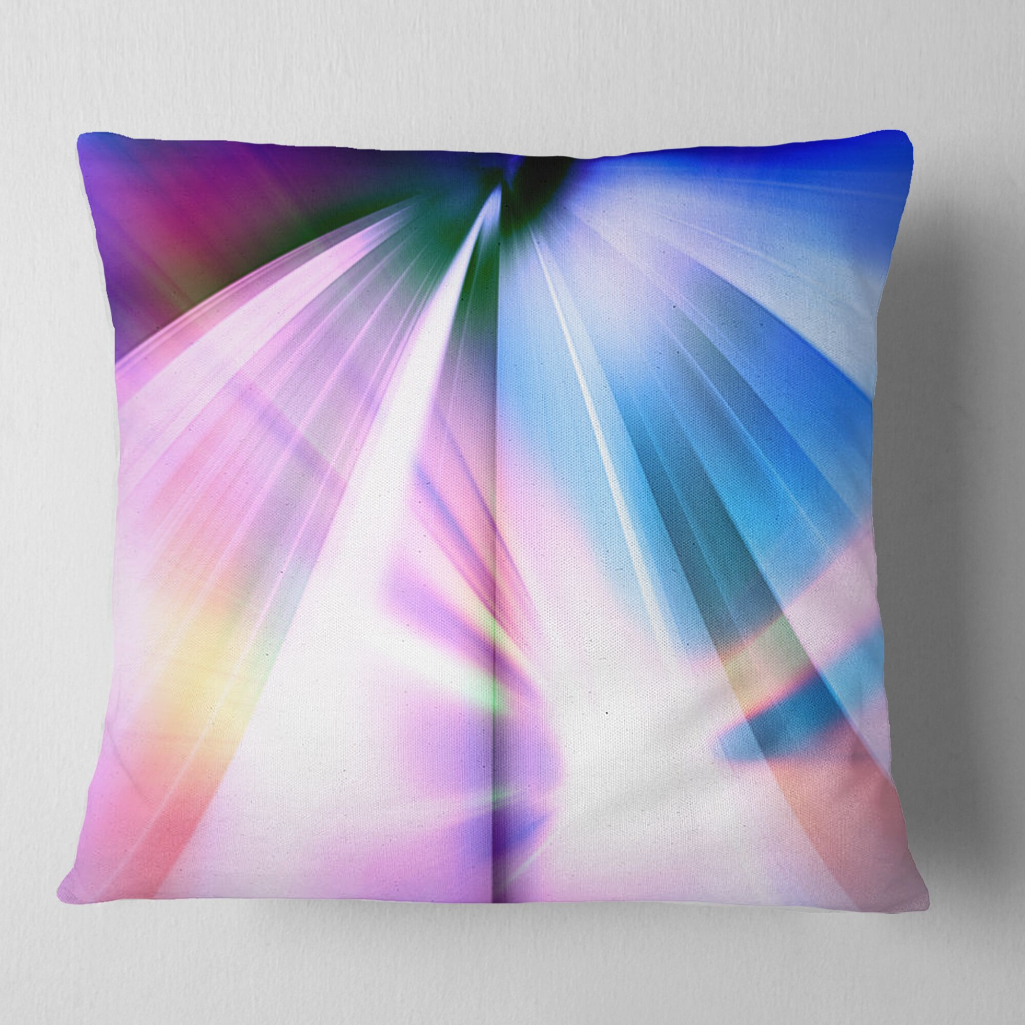 Abstract Rays of Speed Pillow Size: 18