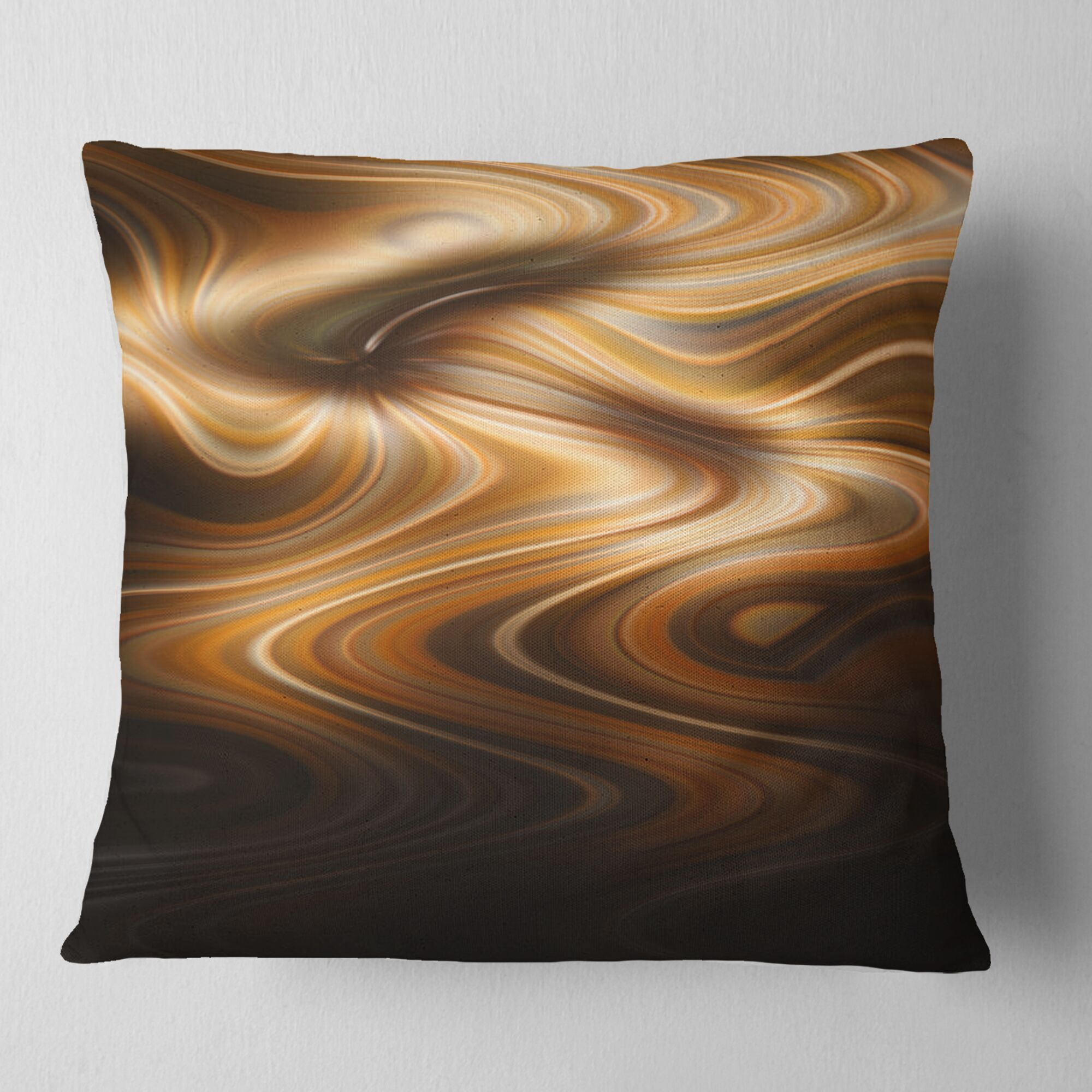 Abstract Curved Waves Texture Pillow Size: 16