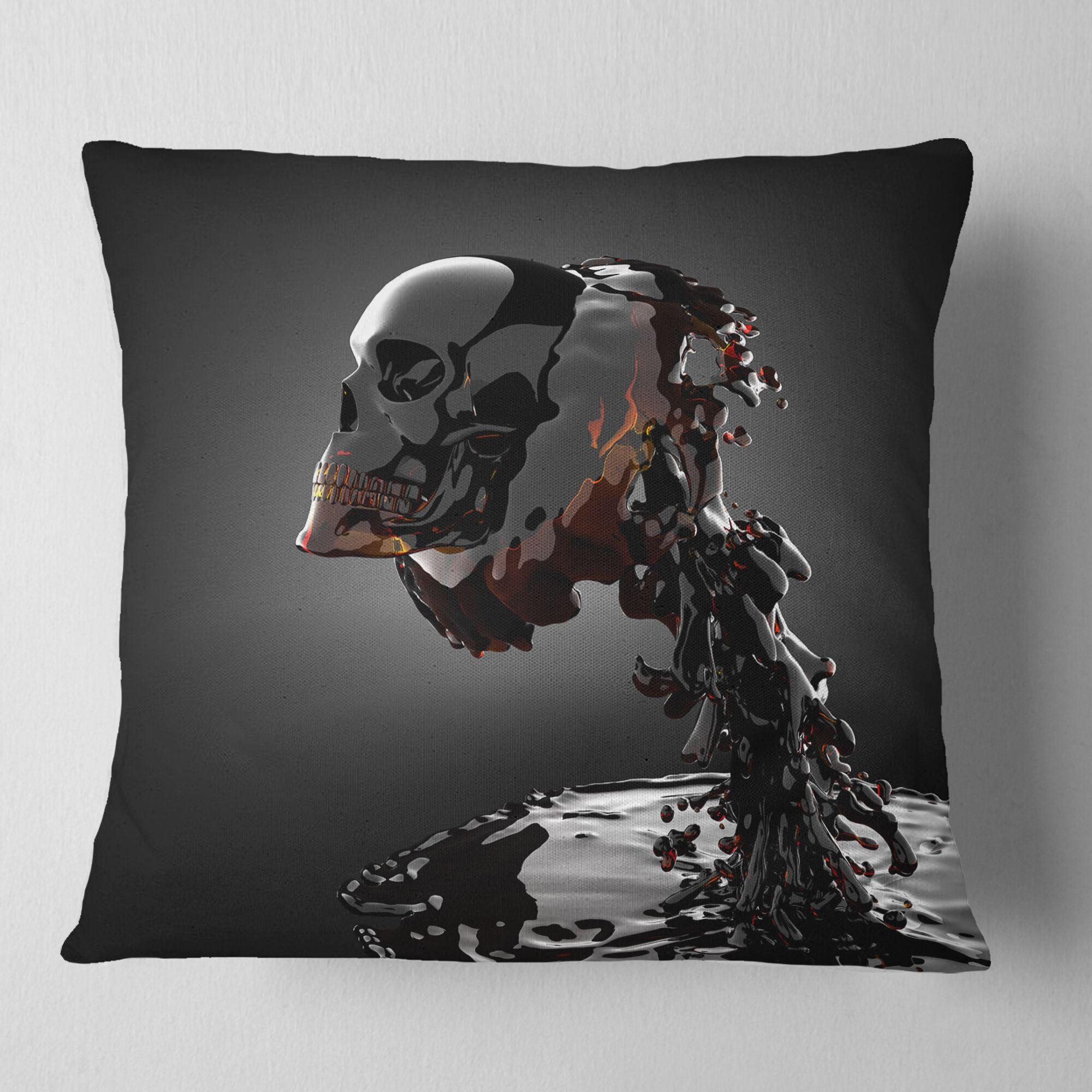 Skull Pillow Size: 26