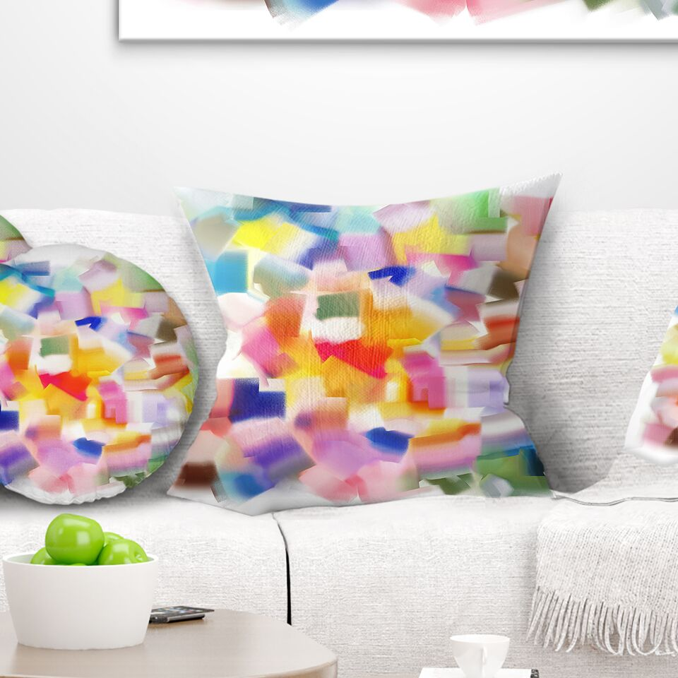 Abstract Colorful Stain Design without Grid Pillow Size: 16