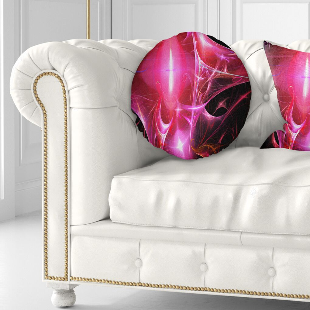 Abstract Bright Candle Throw Pillow Size: 16