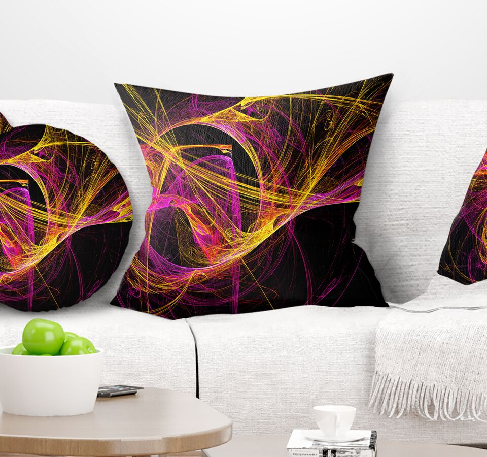 Abstract Wisps of Smoke Pillow Size: 18