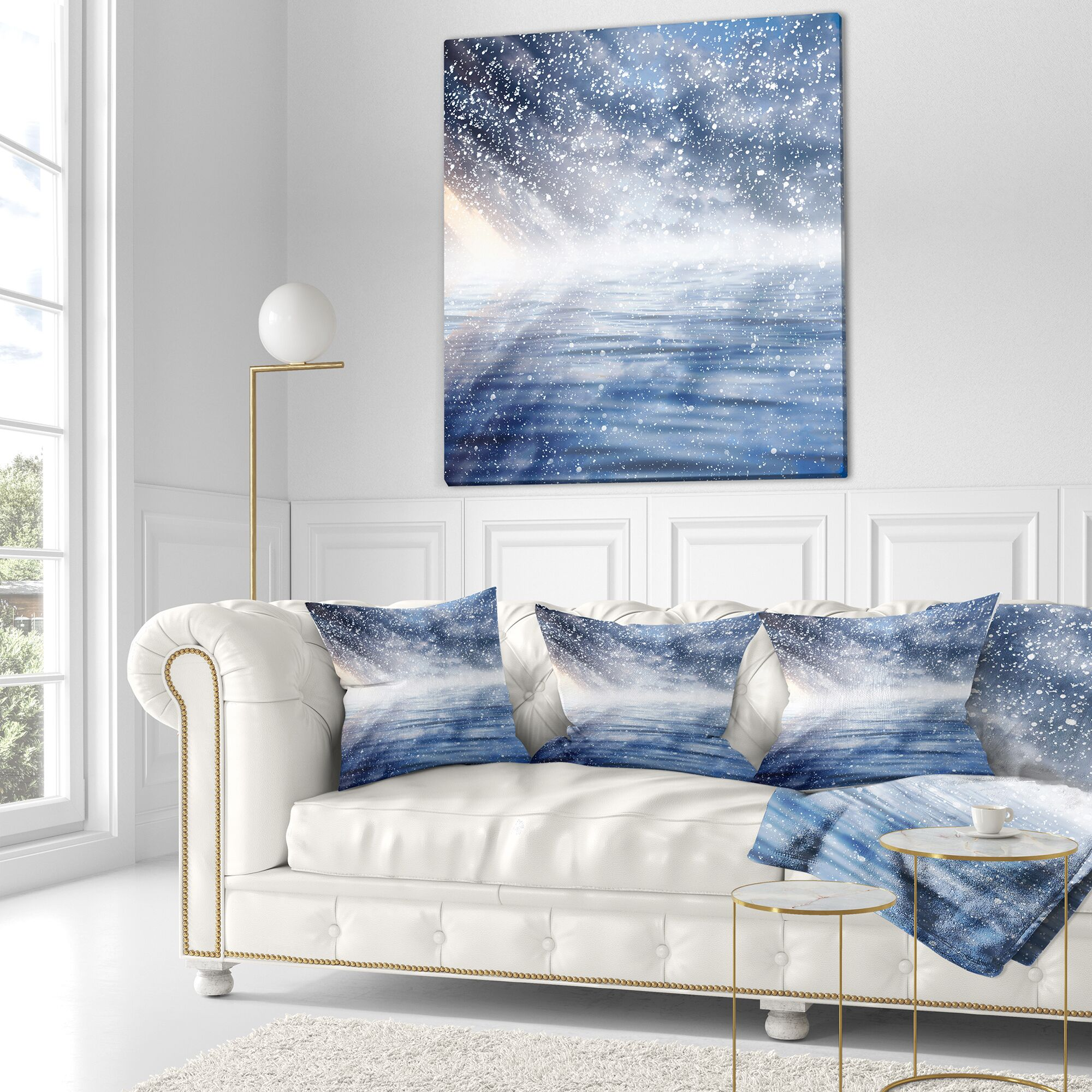 Designart 'Clouds with Reflection Size: 18