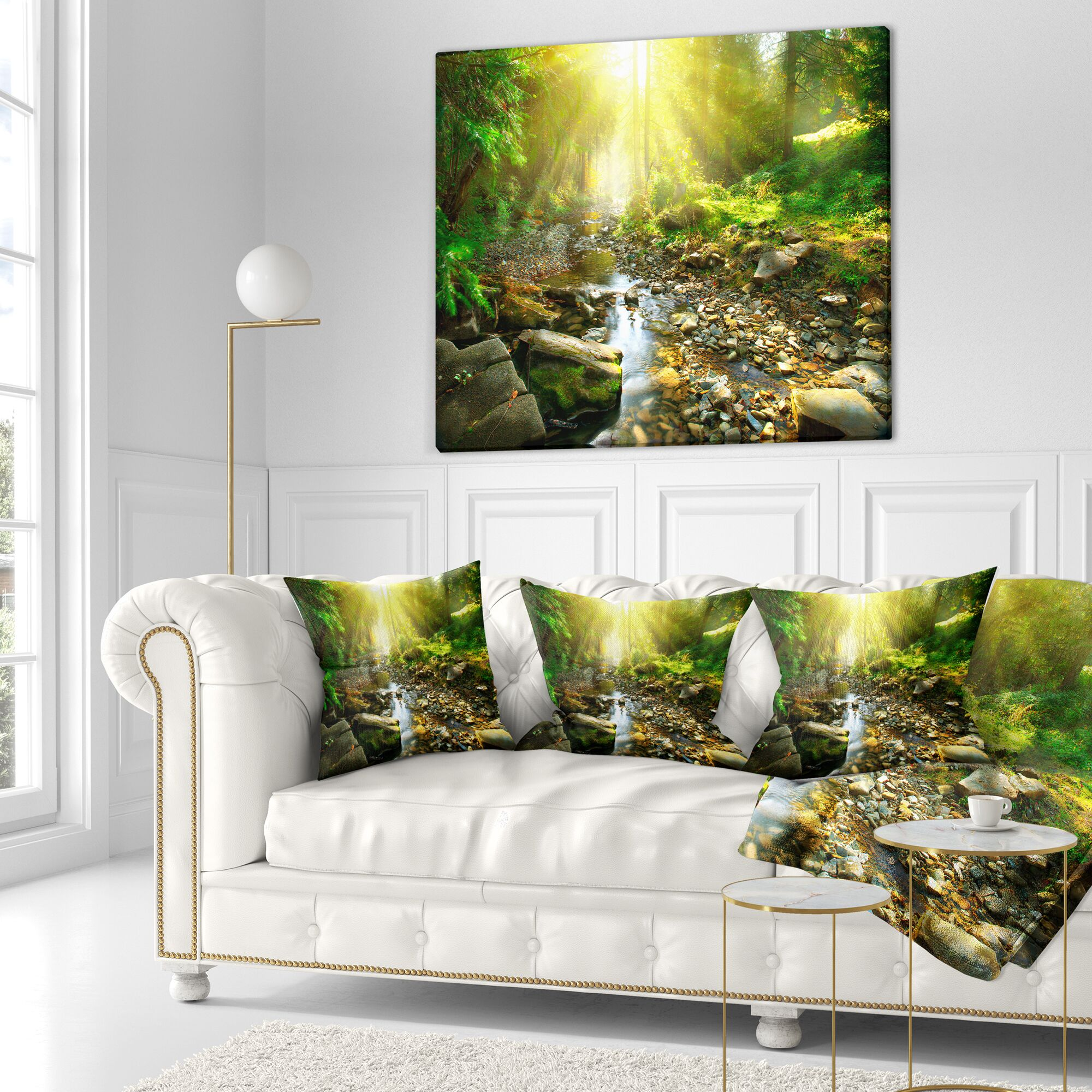 Landscape Photography Mountain Stream Size: 18
