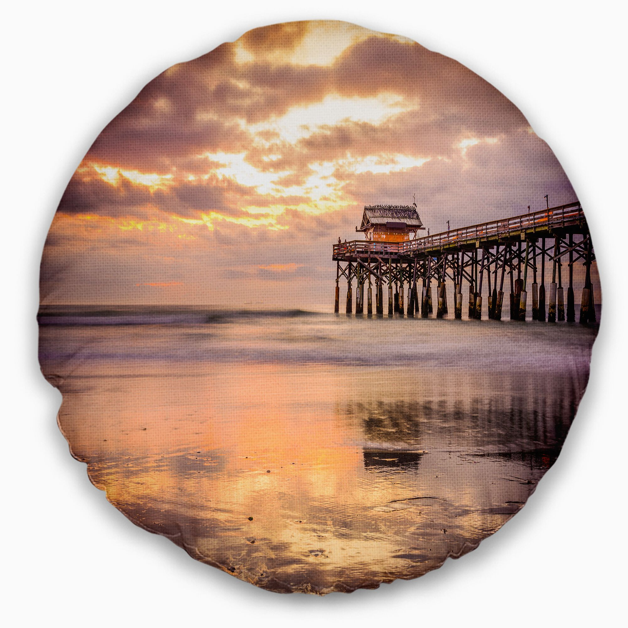 Landscape Cocoa Beach Florida Throw Pillow