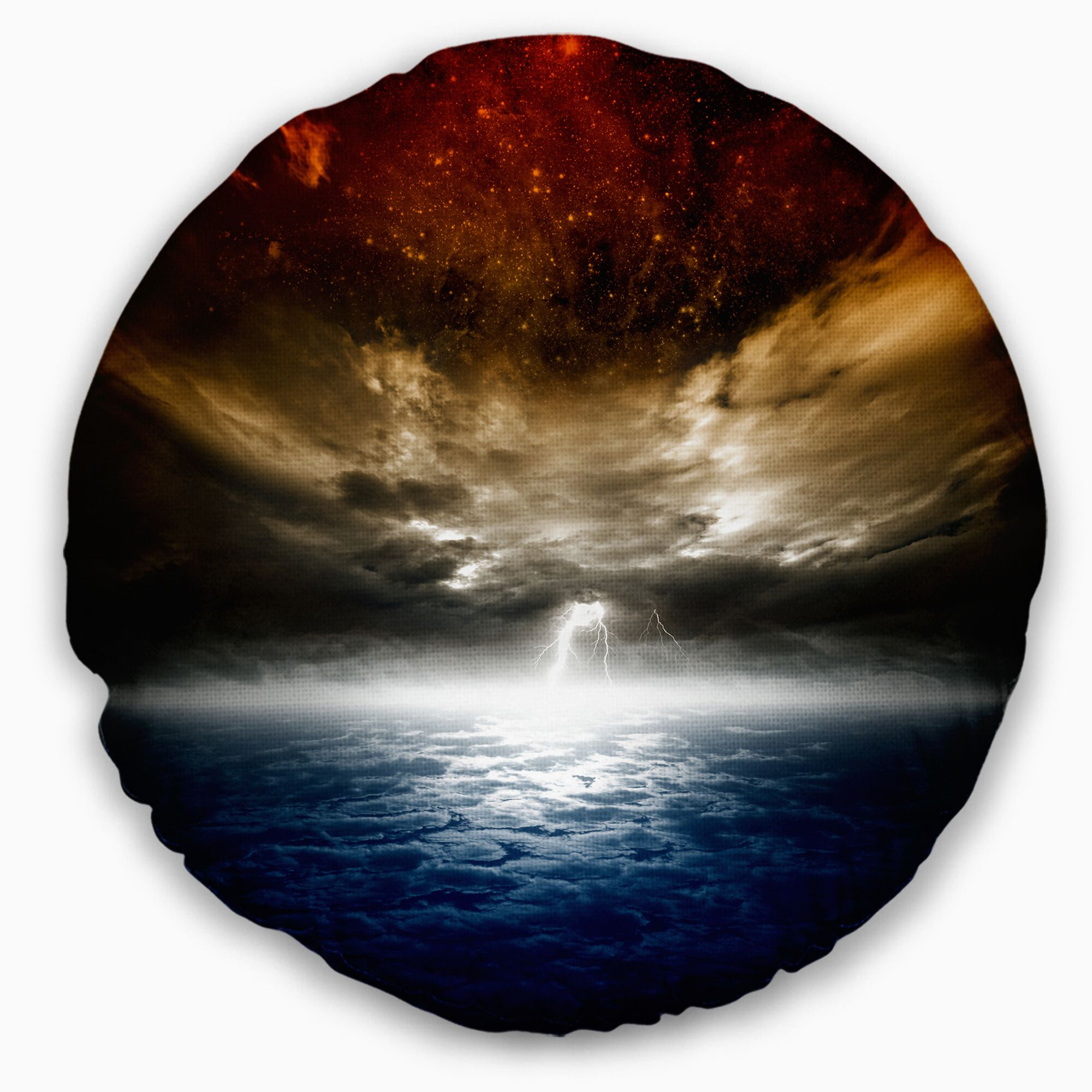 Spacescape Dramatic Nature Throw Pillow Size: 16
