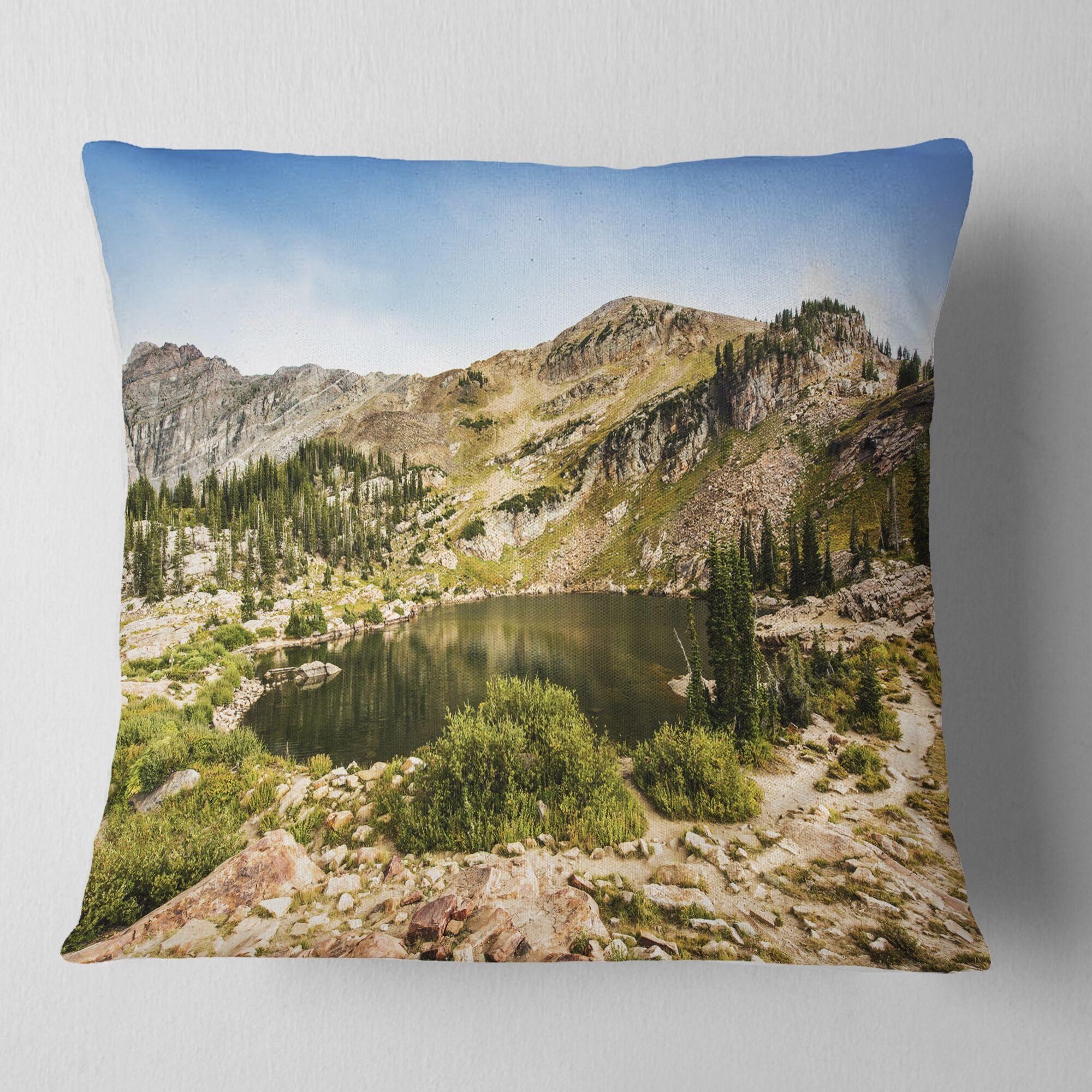 Landscape Secret Lake at Albion Basin Pillow Size: 16