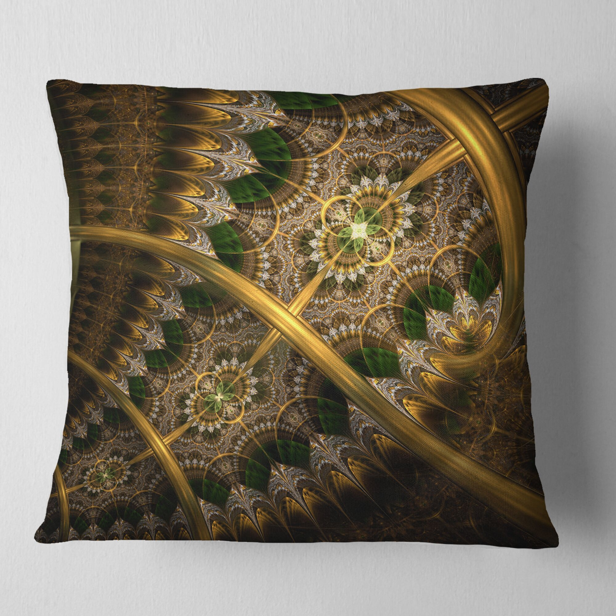 Abstract Fractal Flower Pillow Size: 16
