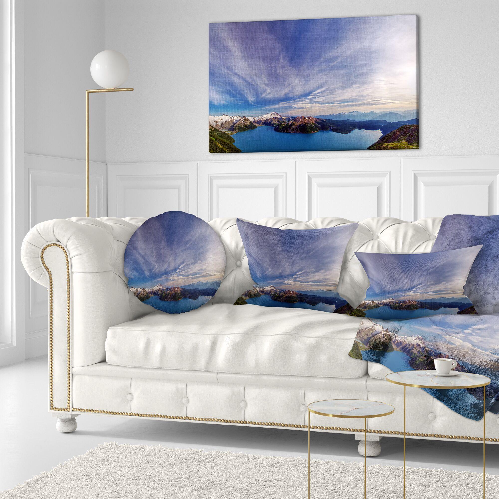Landscape Stunning View of Clear Lake Lumbar Pillow