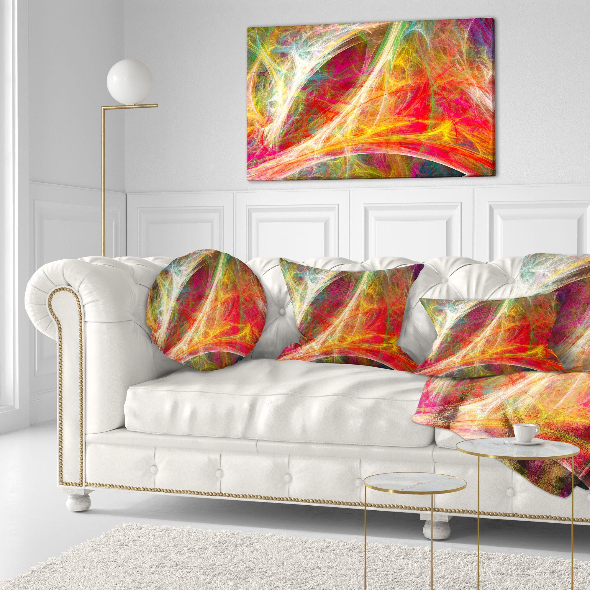 Abstract Mystic Fractal Lumbar Pillow