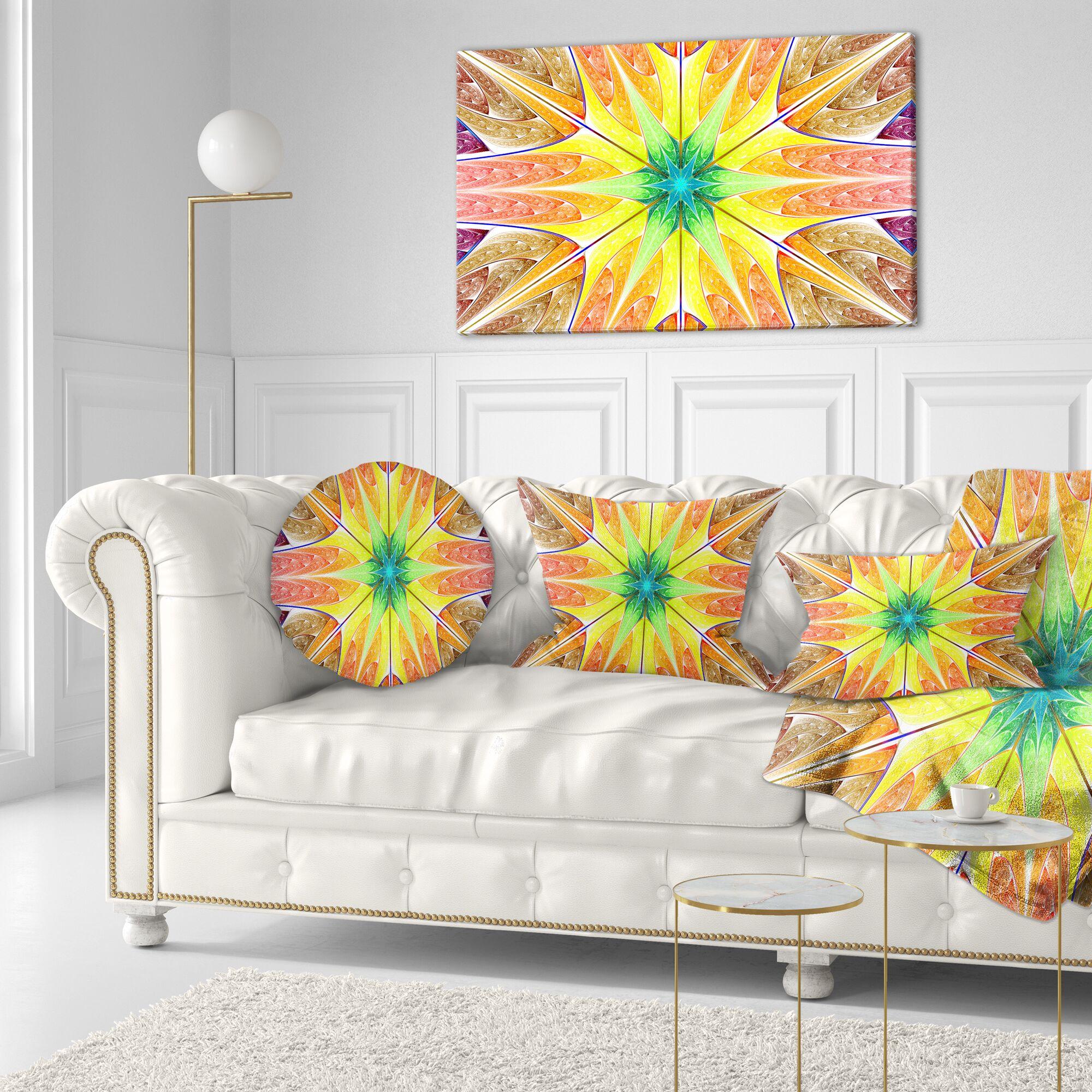 Abstract Glowing Fractal Texture Lumbar Pillow