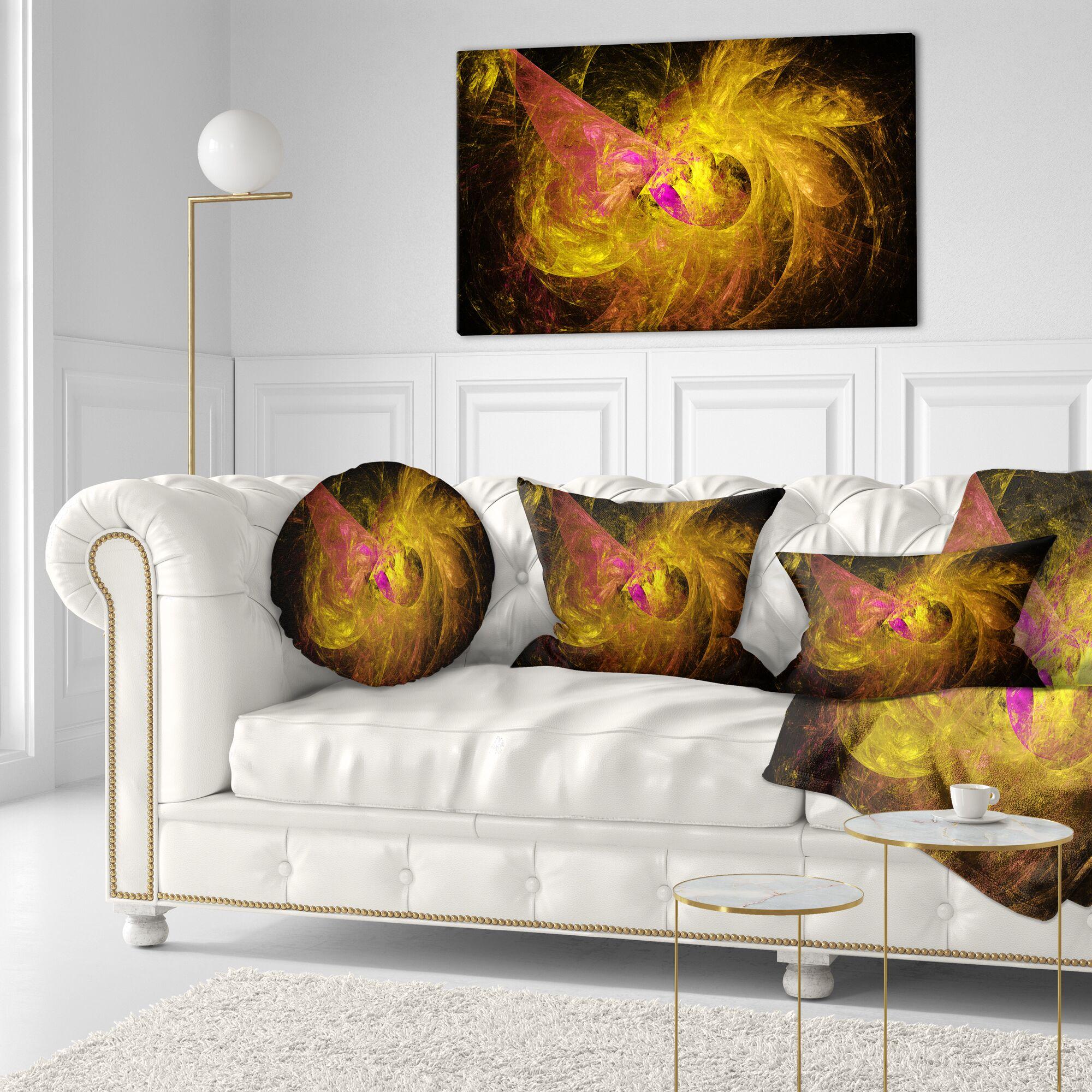 Fractal Abstract Illustration Lumbar Pillow