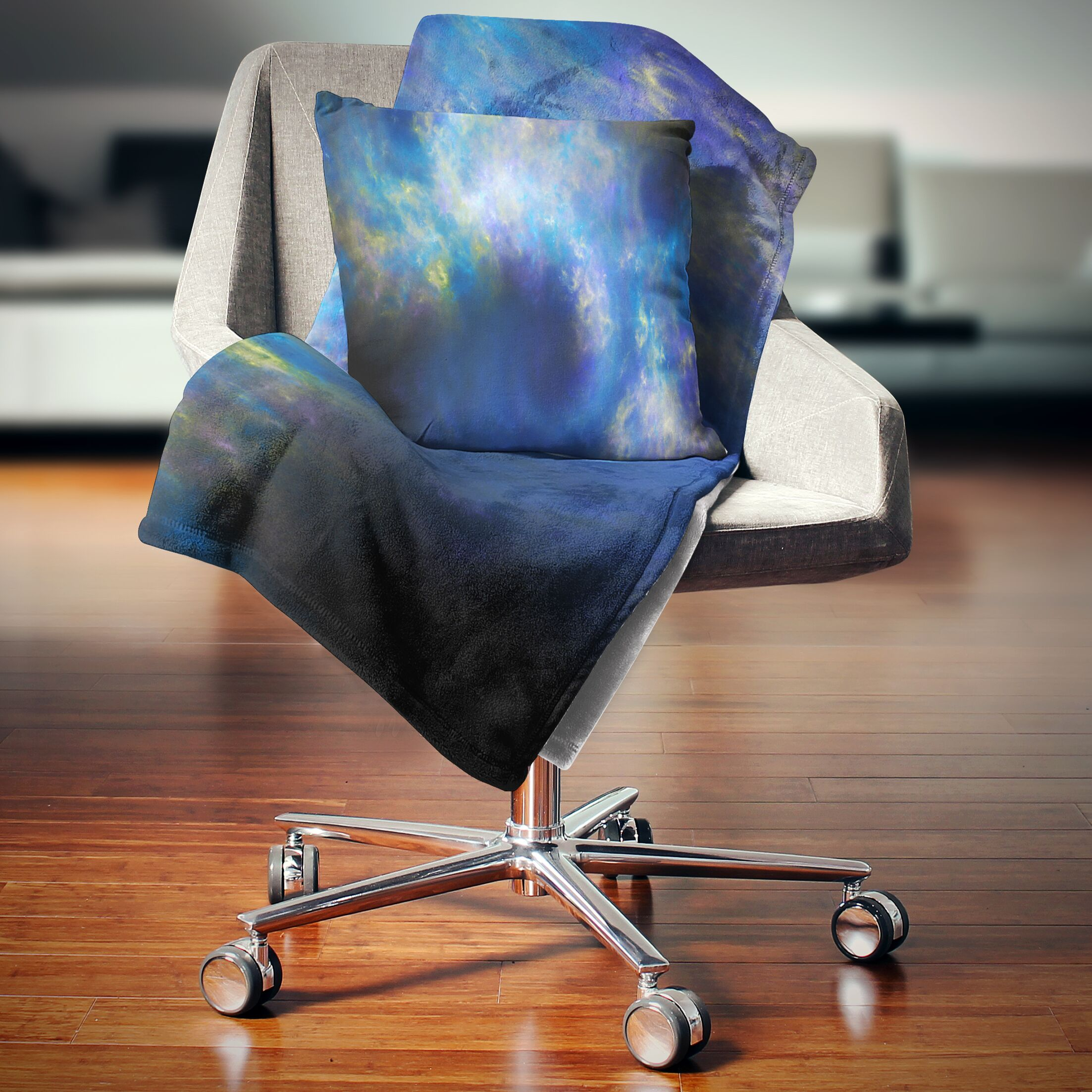 Abstract Perfect Whirlwind Starry Sky Pillow Size: 26