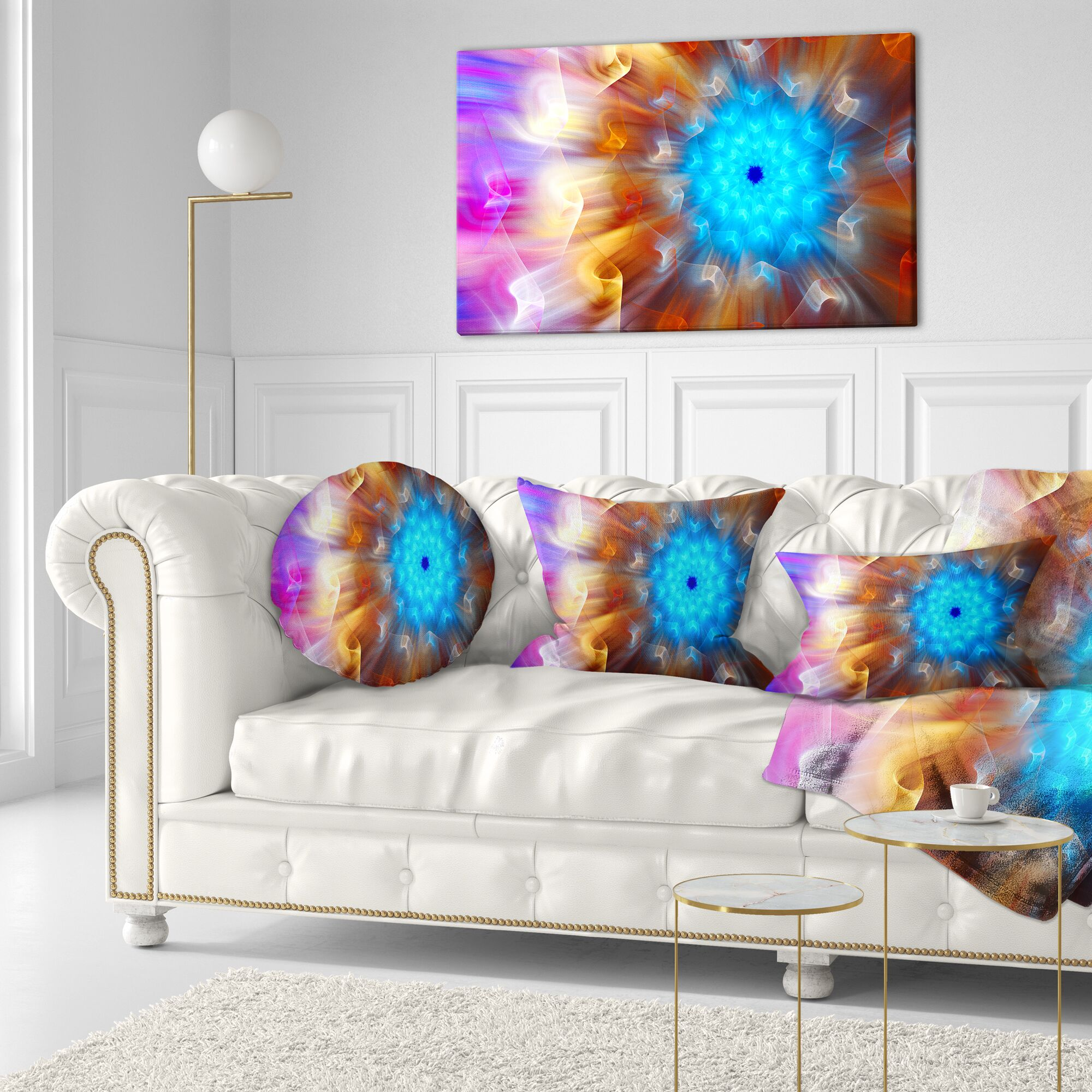 Floral Exotic Flower Petals Throw Pillow Size: 20