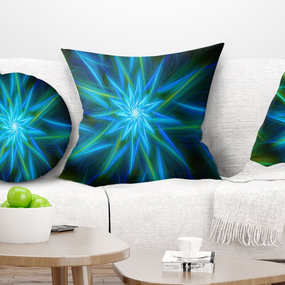 Floral Shining Exotic Flower Pillow Size: 18