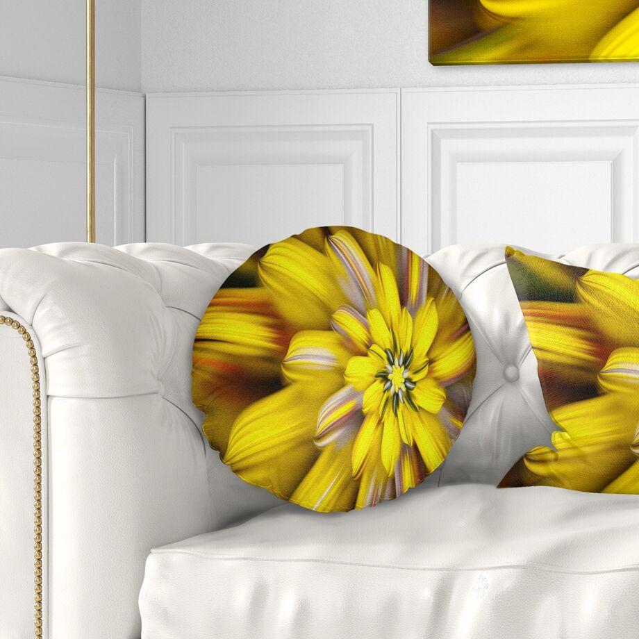 Floral Massive Fractal Flower Throw Pillow Size: 16