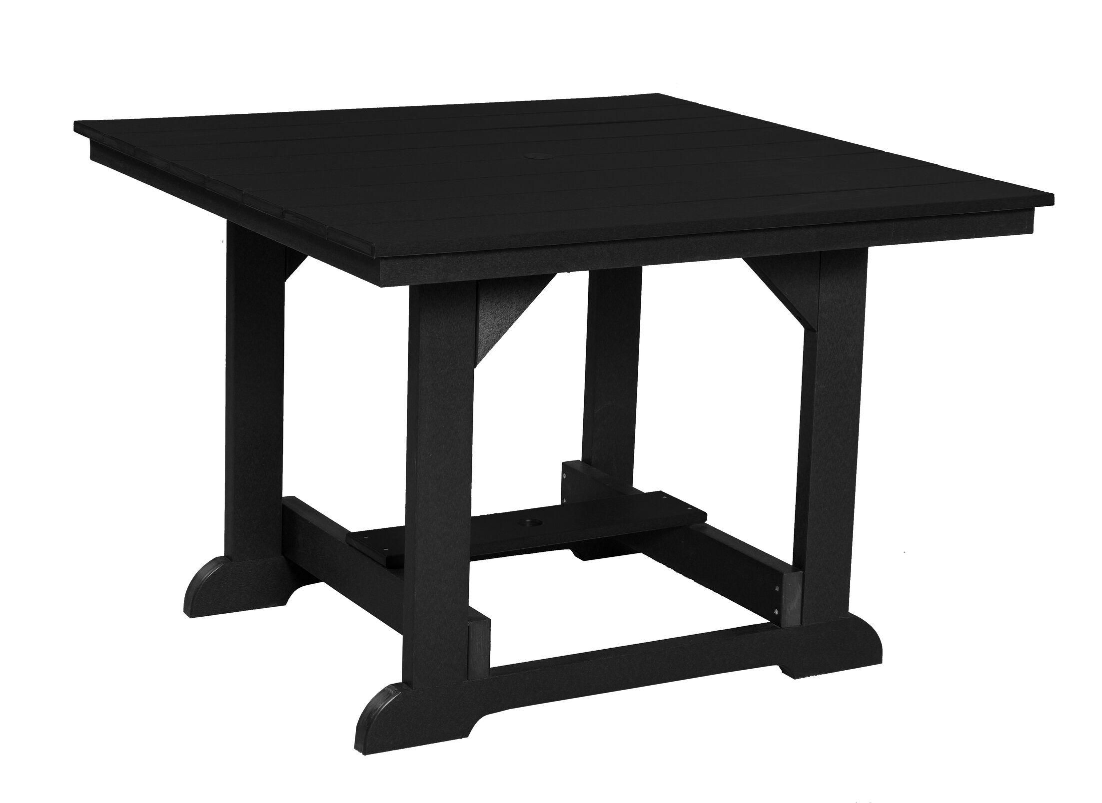 Patricia Square Dining Table Color: Black
