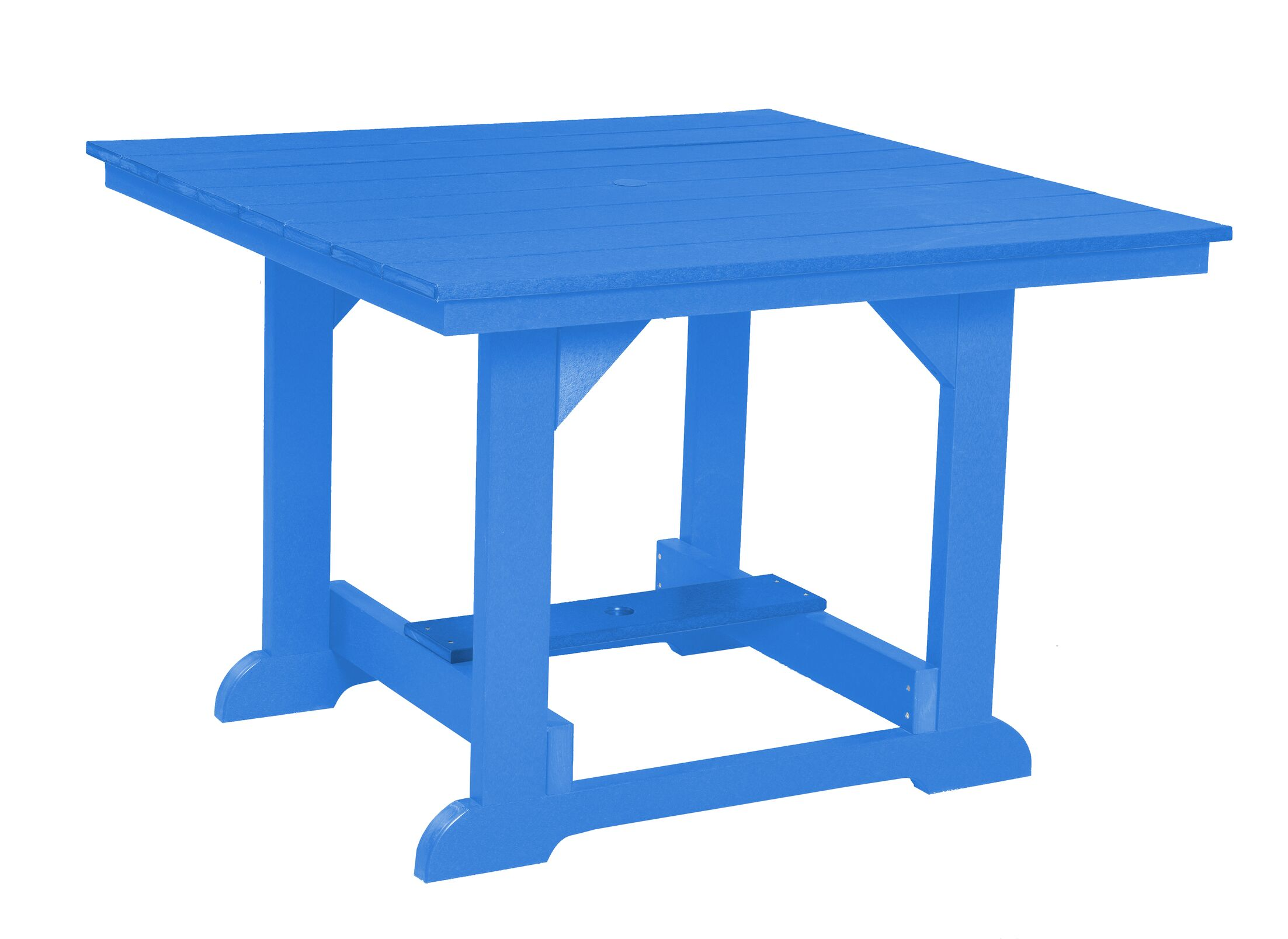 Patricia Square Dining Table Color: Blue