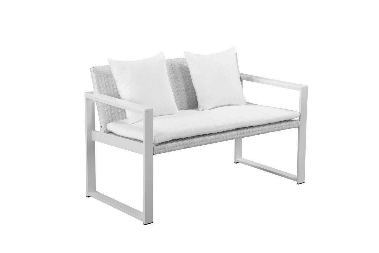 Dorsey 9 Piece Patio Set Frame Color: White, Cushion Color: White