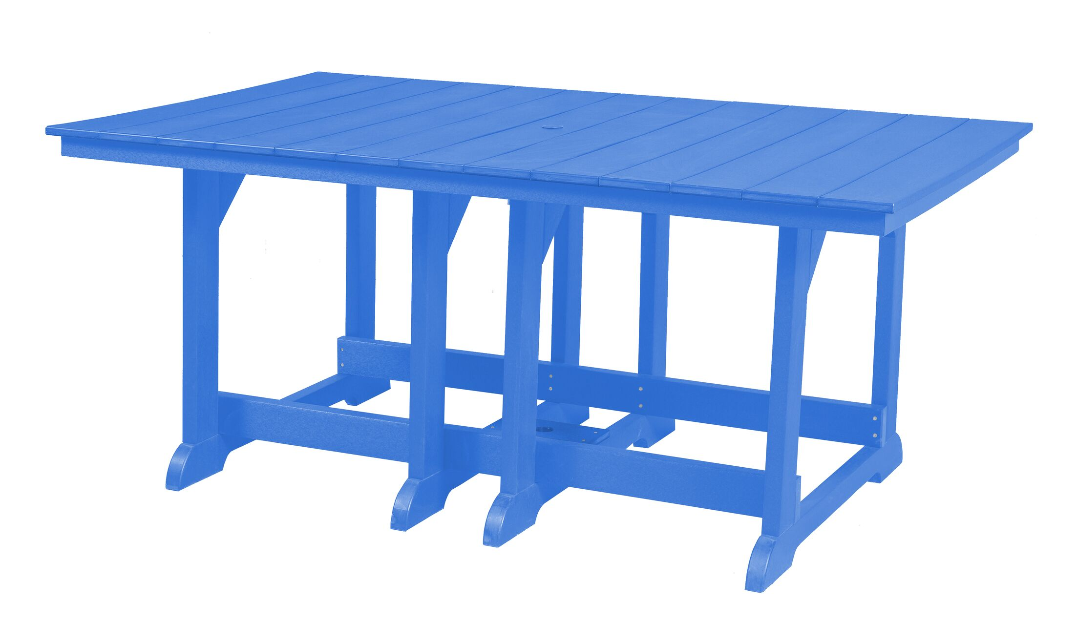Patricia Dining Table Color: Blue