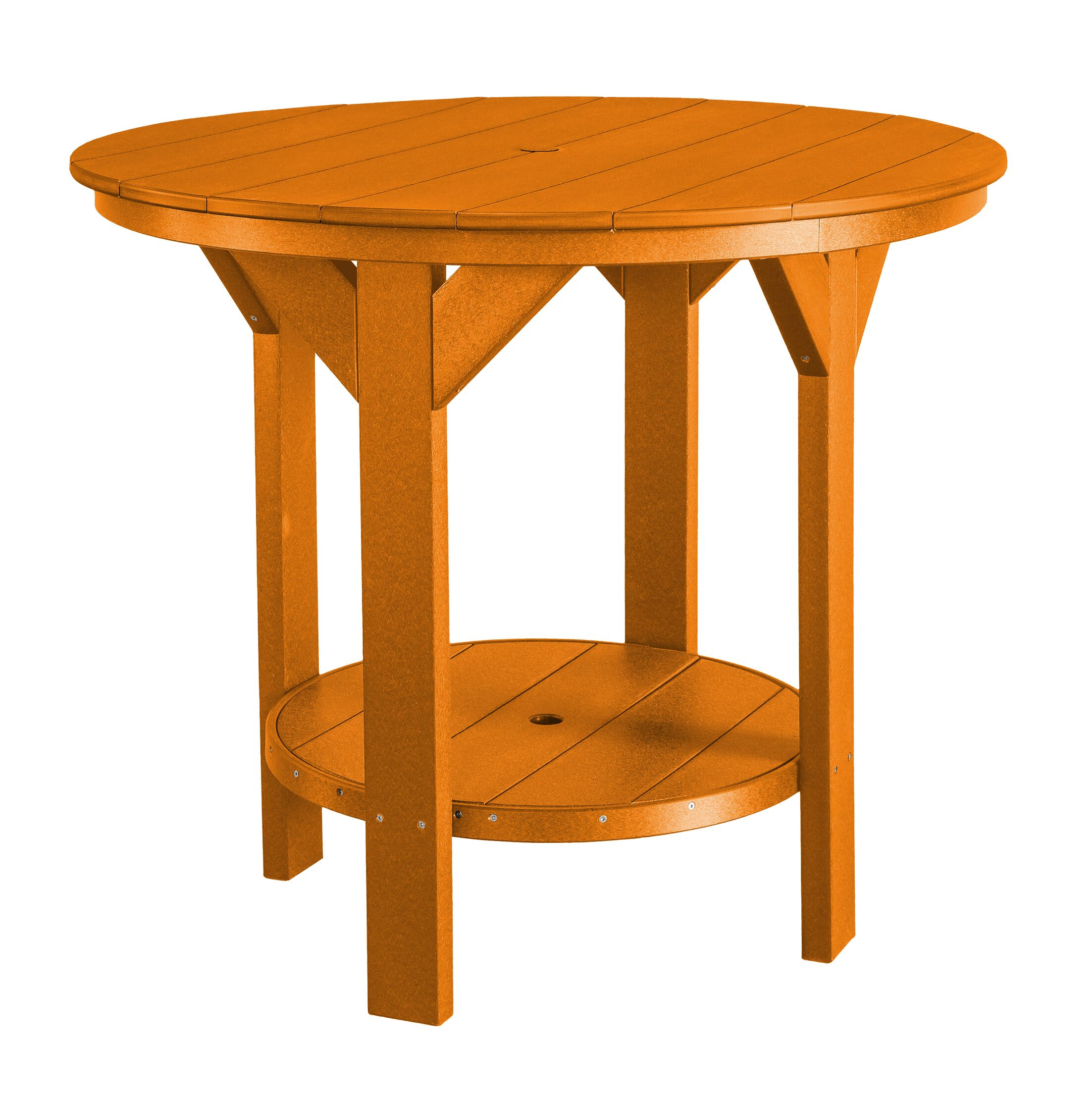 Patricia Bar Table Color: Bright Orange