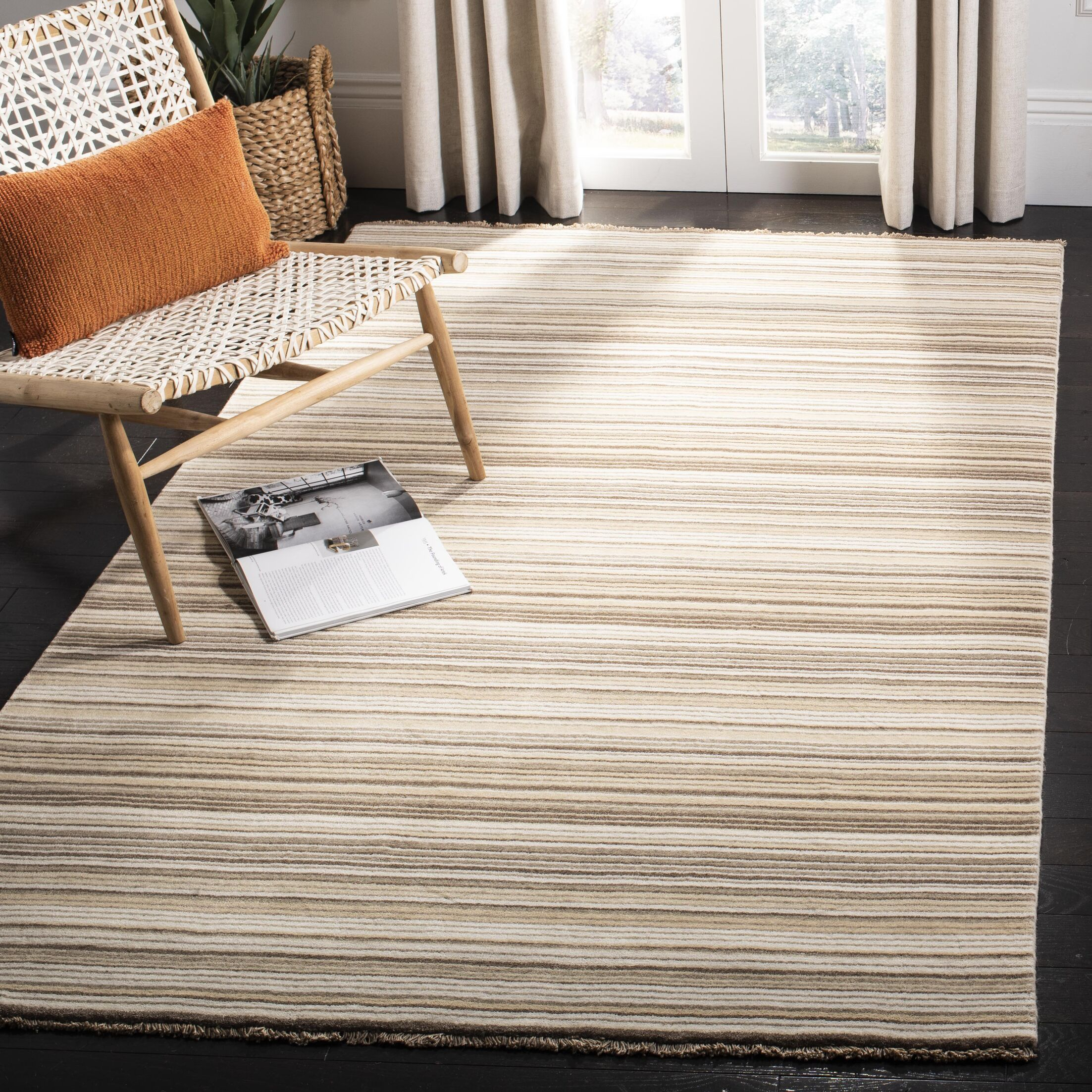 Brookvale Hand-Knotted Natural Area Rug Rug Size: Rectangle 5' x 8'
