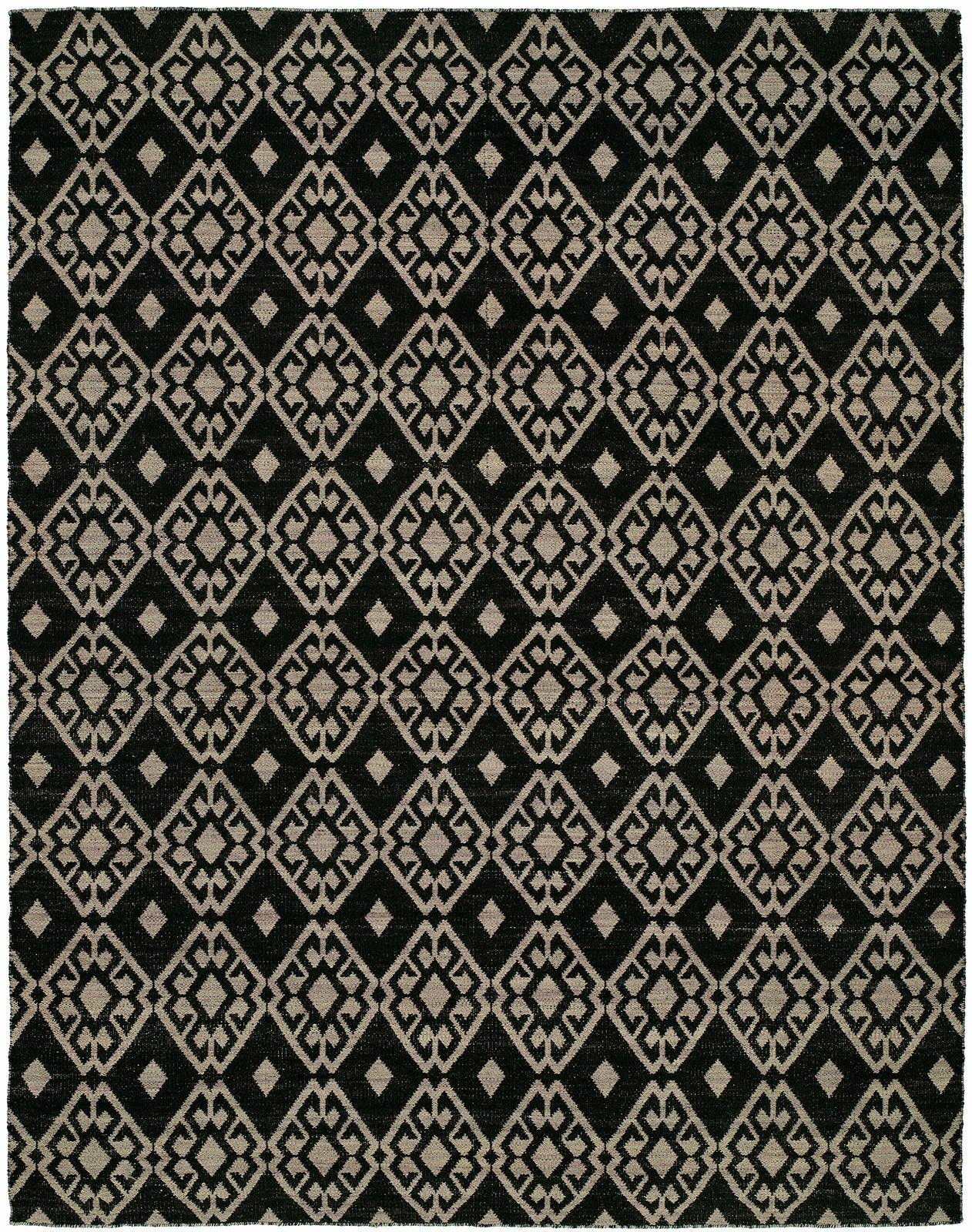 Folsom Handmade Black/Lilac Area Rug Rug Size: 9' x 12'