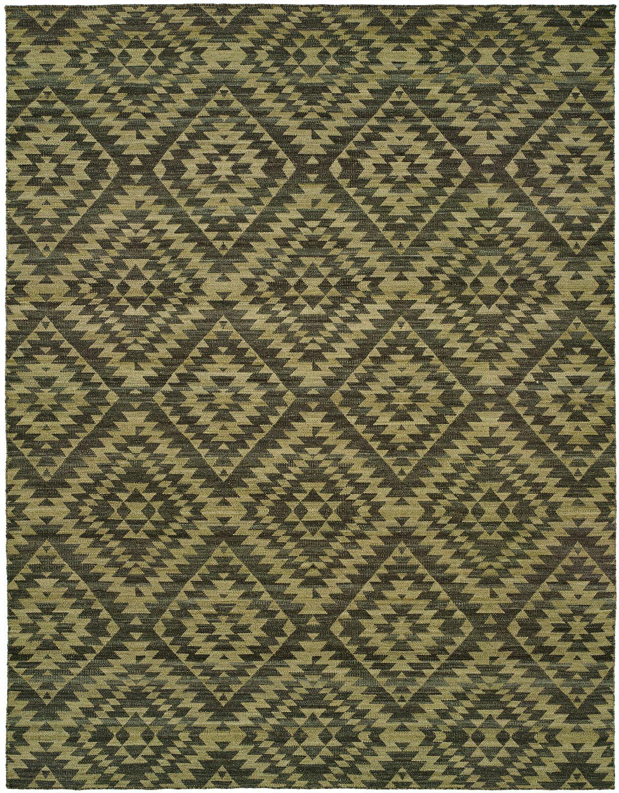 Ford Handmade Camel/Green Area Rug Rug Size: 4' x 6'