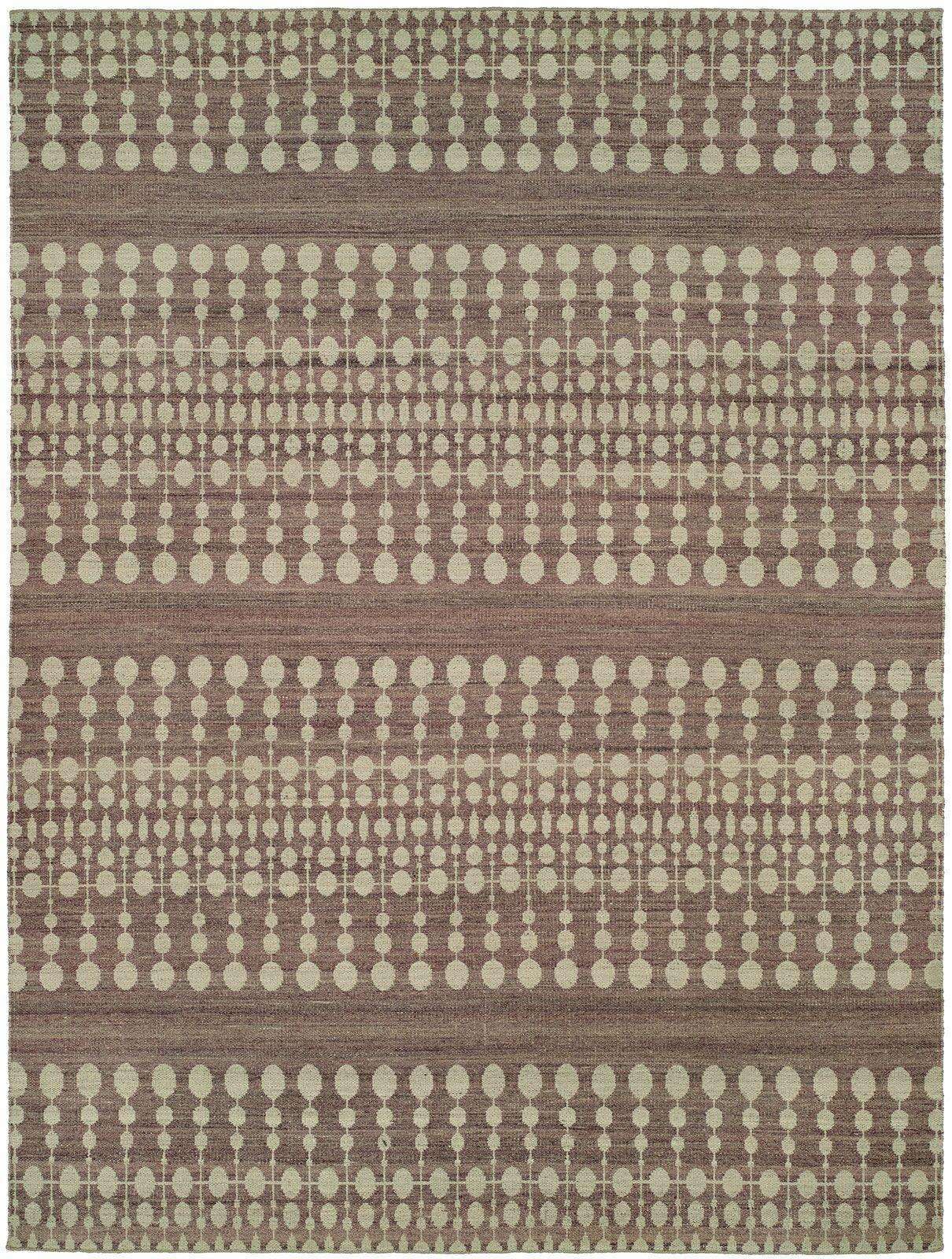 Omaha Handmade Ivory/Lilac Area Rug Rug Size: 5' x 8'
