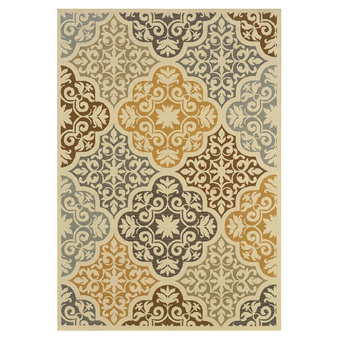 Colton Yellow/Brown Indoor/Outdoor Area Rug Rug Size: Rectangle 5'3