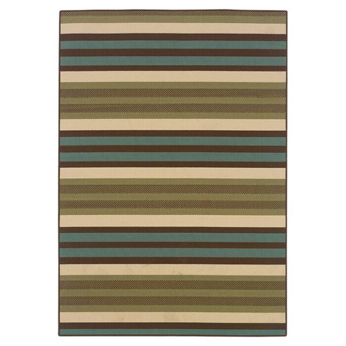 Brendel Green/Blue Indoor/Outdoor Area Rug Rug Size: Rectangle 6'7