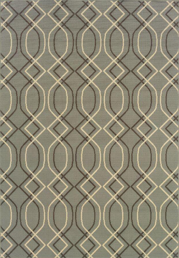 Milltown Blue/Grey Indoor/Outdoor Area Rug Rug Size: Rectangle 8'6