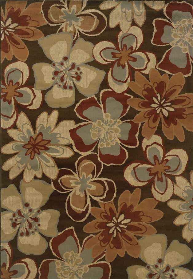 Harper Brown/Gold Area Rug Rug Size: Rectangle 7'10