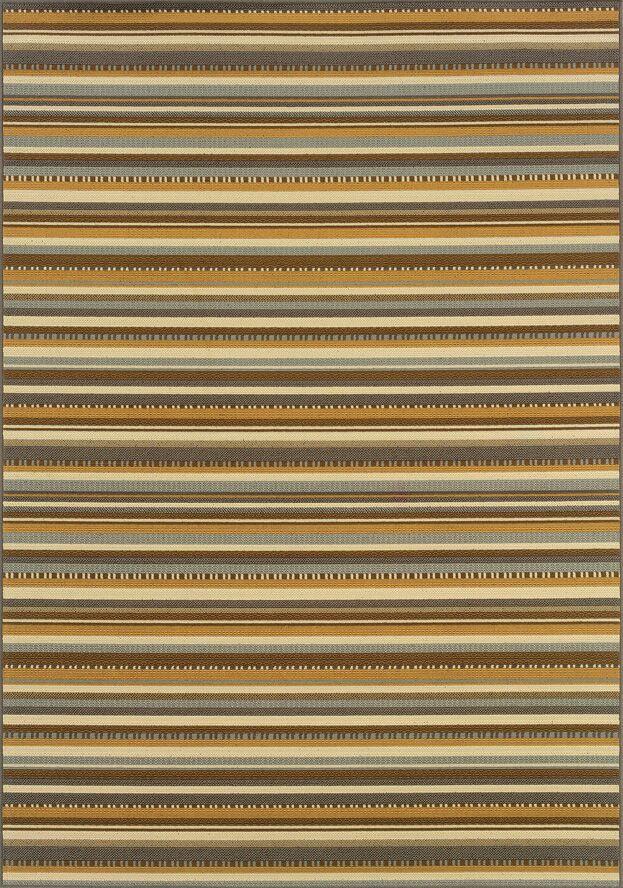 Milltown Grey/Gold Indoor/Outdoor Area Rug Rug Size: Rectangle 5'3