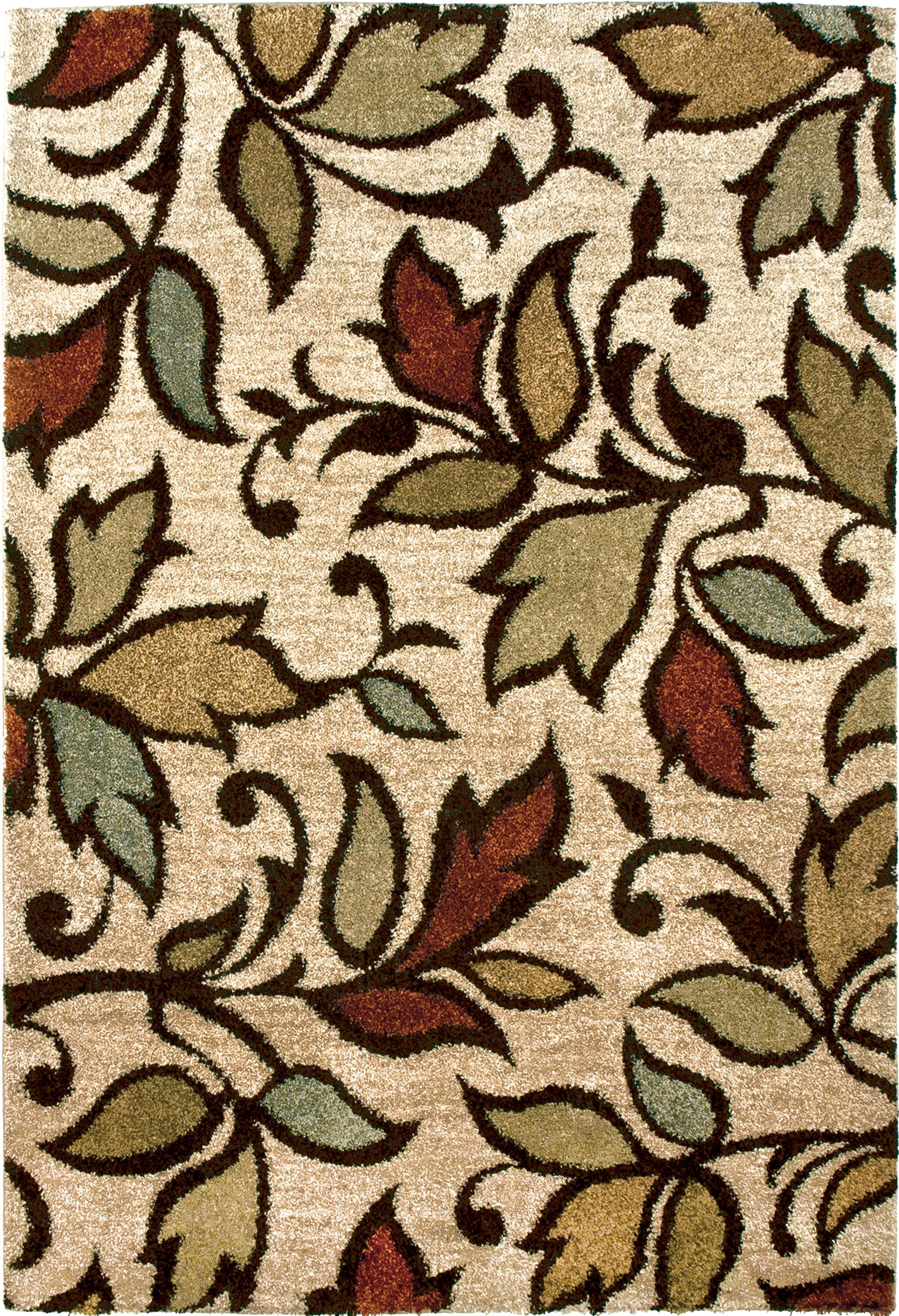 Vine Getty Bisque Beige/Brown Area Rug Rug Size: 5'3