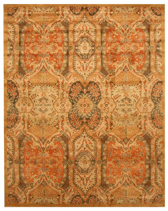 Leaburg Hand-Woven Gold Area Rug Rug Size: Rectangle 5' x 8'