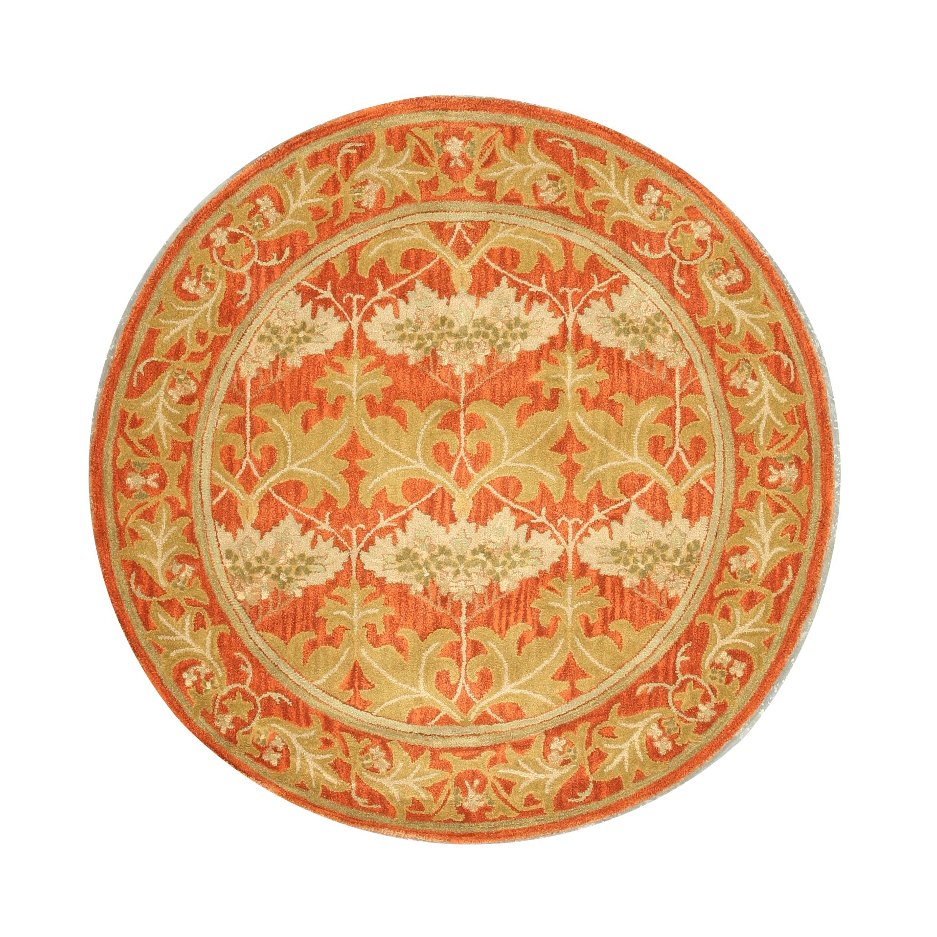 Lehman Hand-Tufted Rust Area Rug Rug Size: Round 6'