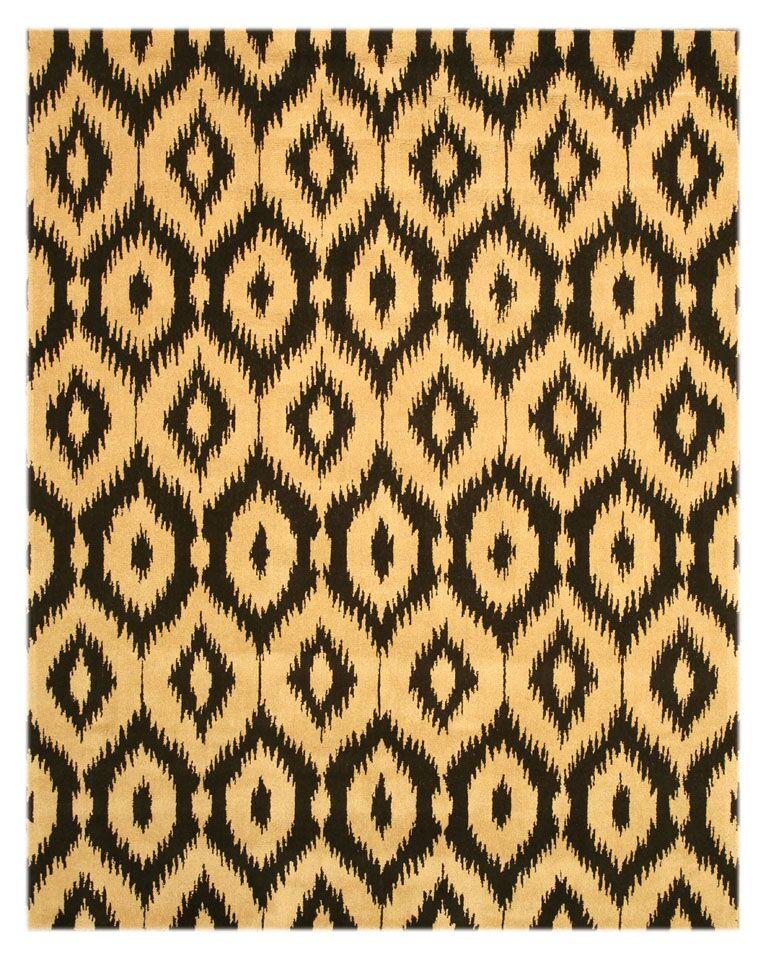 Logsden Black/Gold Area Rug Rug Size: 7'9